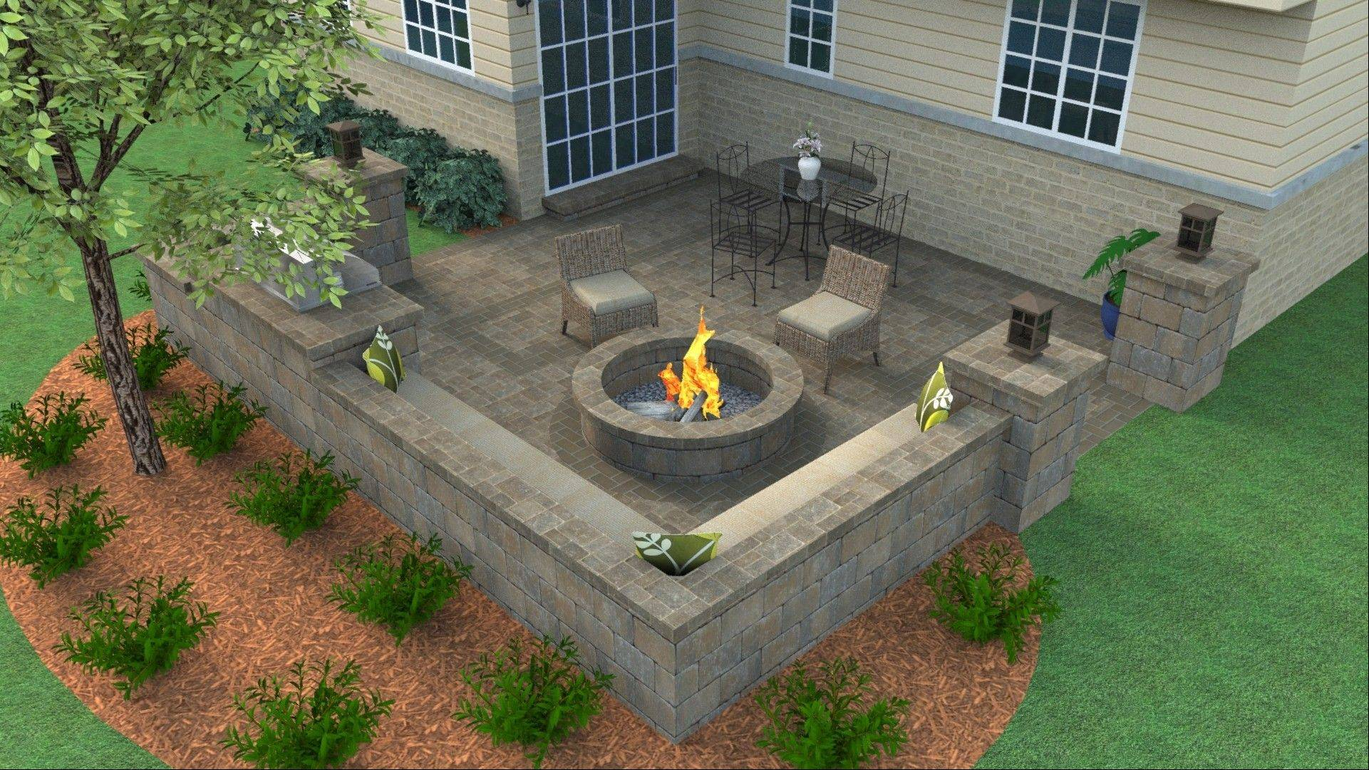 Zeeck was delighted with the plan that Belgard Hardscapes designed for her backyard. She won a makeover worth more than $20,000, including the pavers, lighting, a water feature, landscaping and installation of all the materials.