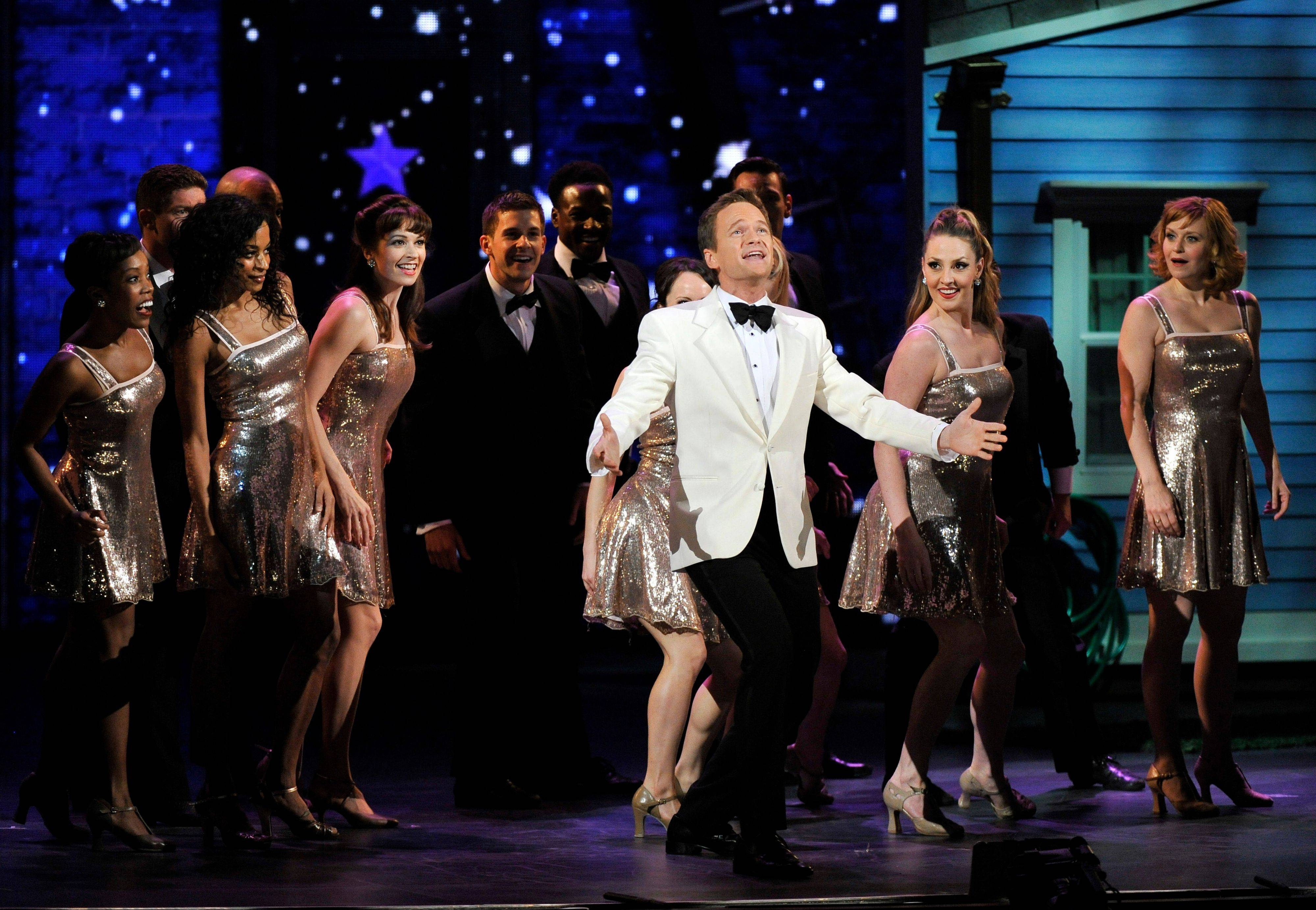 "Host Neil Patrick Harris performs the tongue-in-cheek opening number ""If Life Were More Like the Theater"" at the 66th Annual Tony Awards on Sunday in New York."