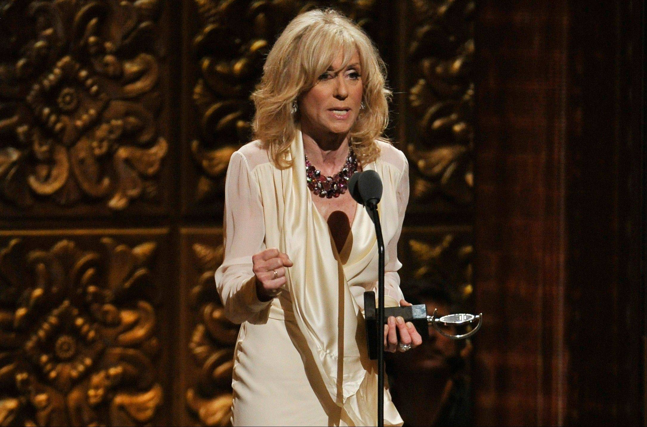 Judith Light accepts the award for best actress in a featured role in a play at the 66th Annual Tony Awards on Sunday in New York.
