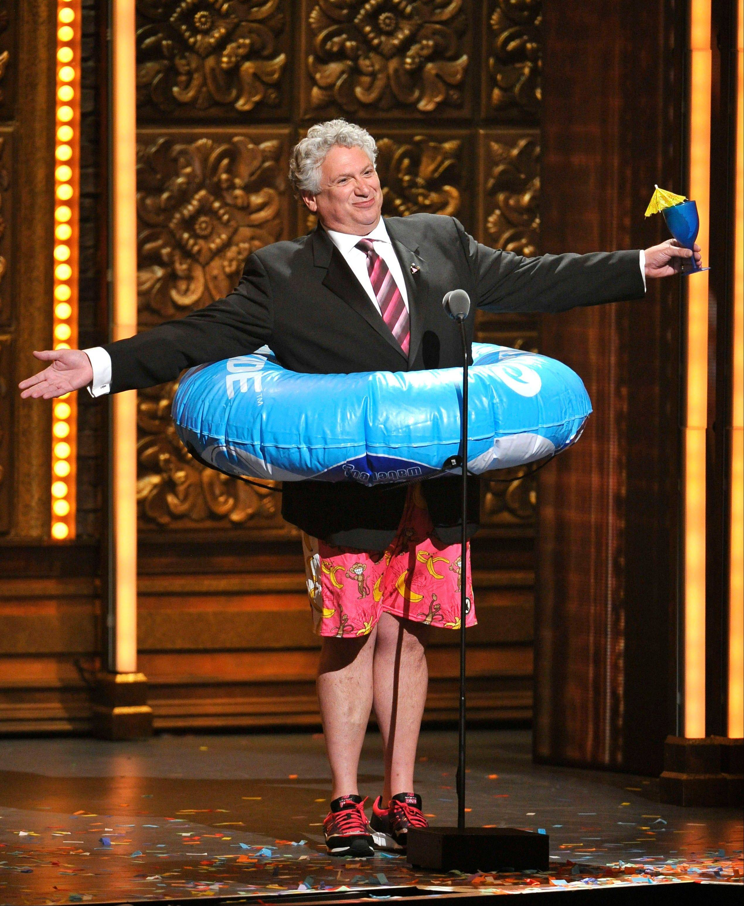 Harvey Fierstein has a little fun during the 66th Annual Tony Awards on Sunday in New York.