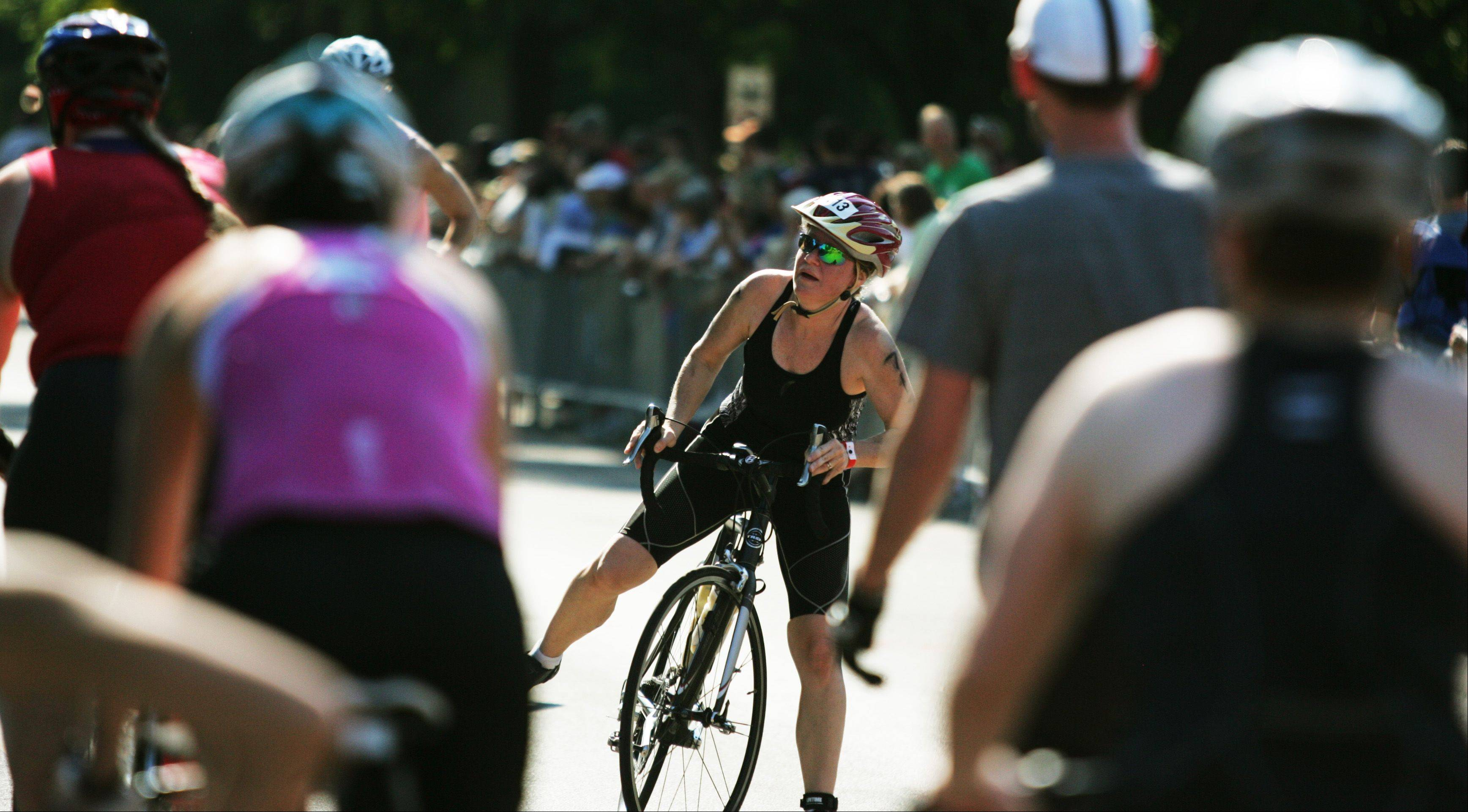 Thousands of woman participated in the SheROX Triathlon in Naperville. The event featured a .75-kilometer swim, 22.8-kilometer bike ride and 5-kilometer run.