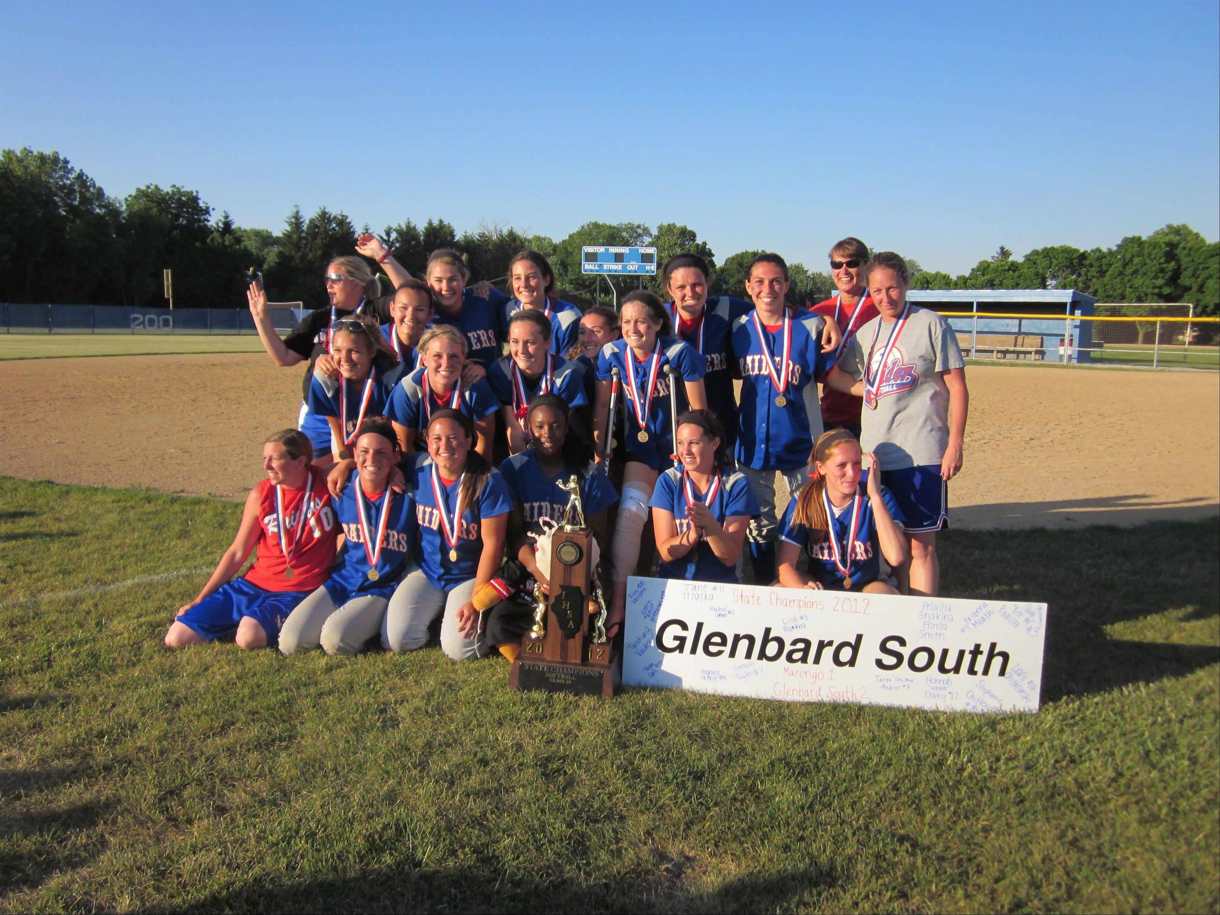 The Glenbard South softball team came home state champions Saturday.