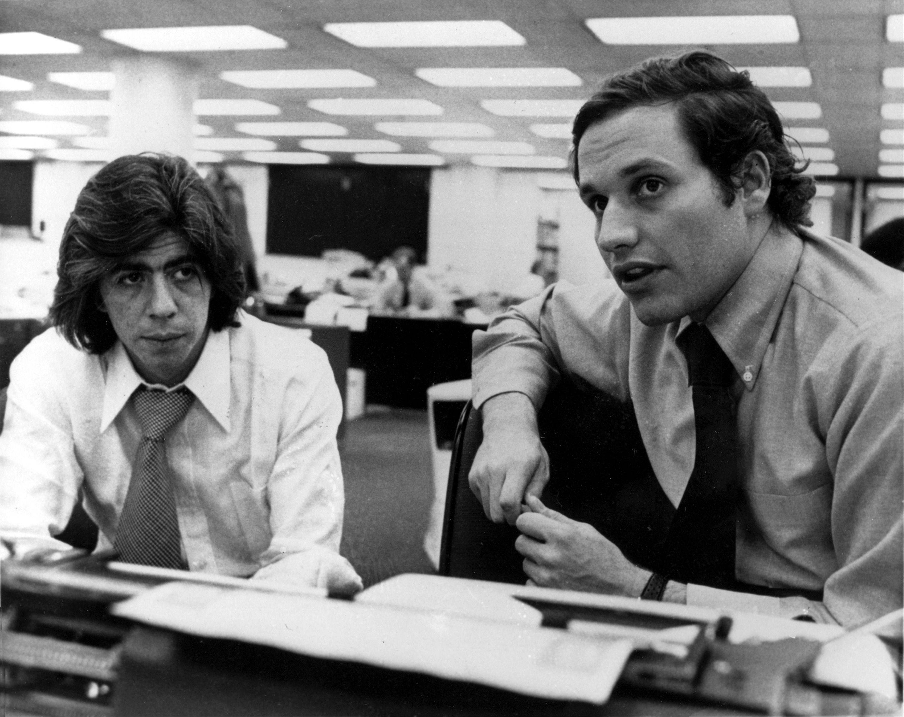 Washington Post writers Carl Bernstein, left, and Robert Woodward, who pressed the Watergate investigationin May 7, 1973.