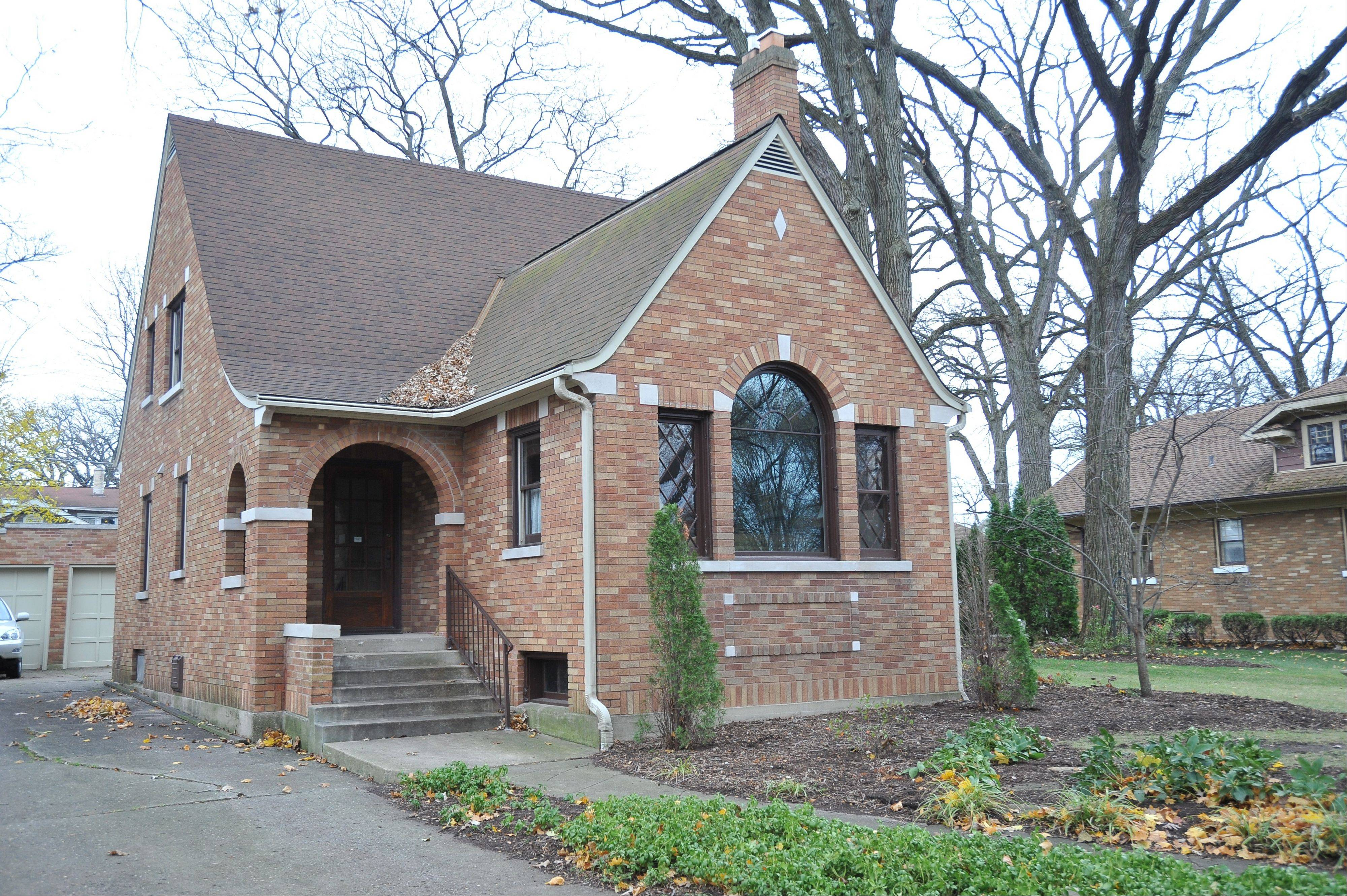 A Tudor revival from around 1932 at 205 N. Hickory Ave. was built for John and Ruth Baxman and is currently owned by Jim and Nancy Butler, who have resided there since 1996.