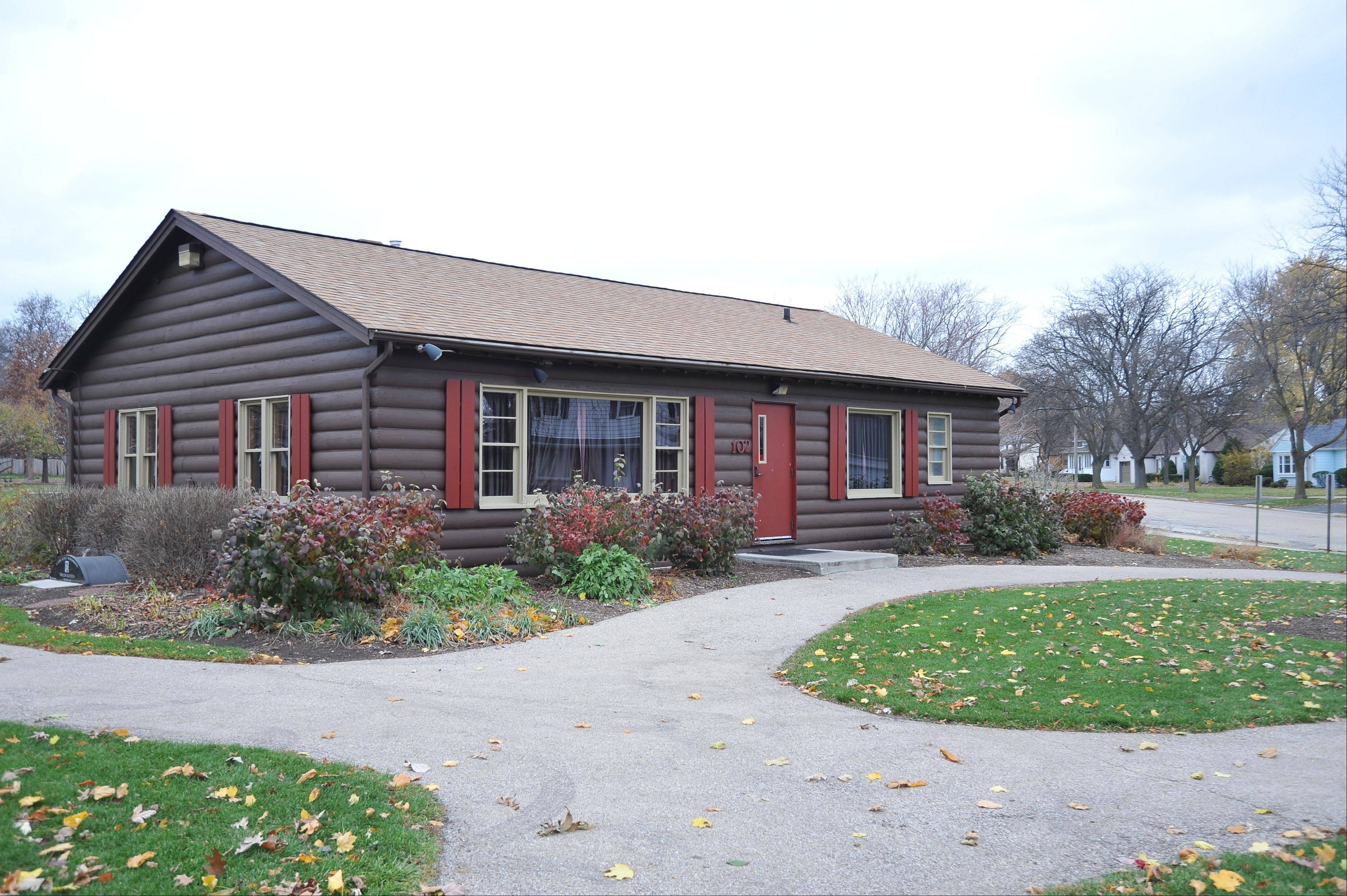 The Bartlett Park log cabin, 102 N. Eastern Ave., was completed in 1952 and served for many years as the village's community center. The Bartlett Park District now owns the building.