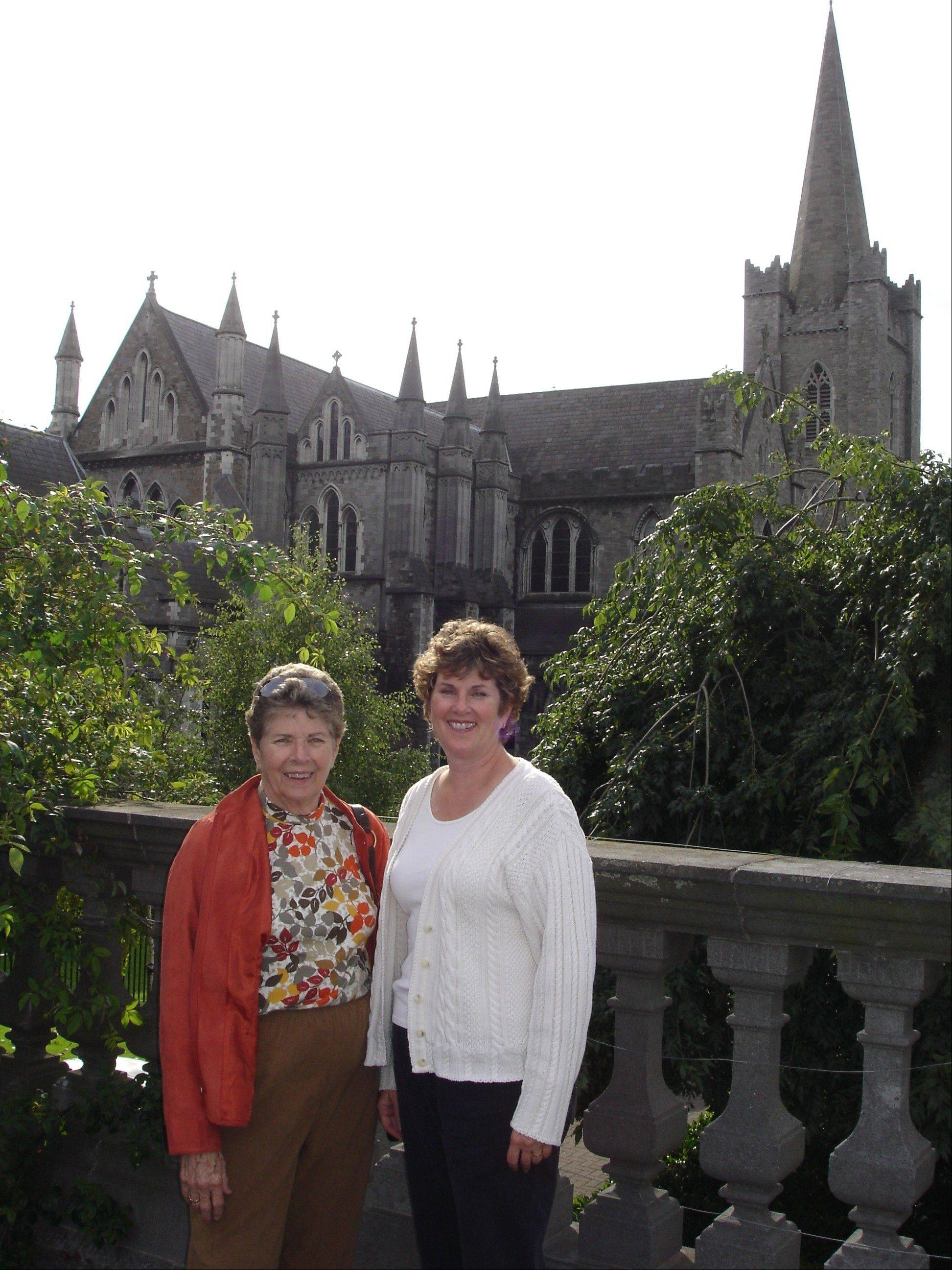 Former Wheeling Village President Sheila Schultz taught the value of community service to her daughter, Kathy Ryg, who is seen here with her mom during a 2006 family trip to Ireland.