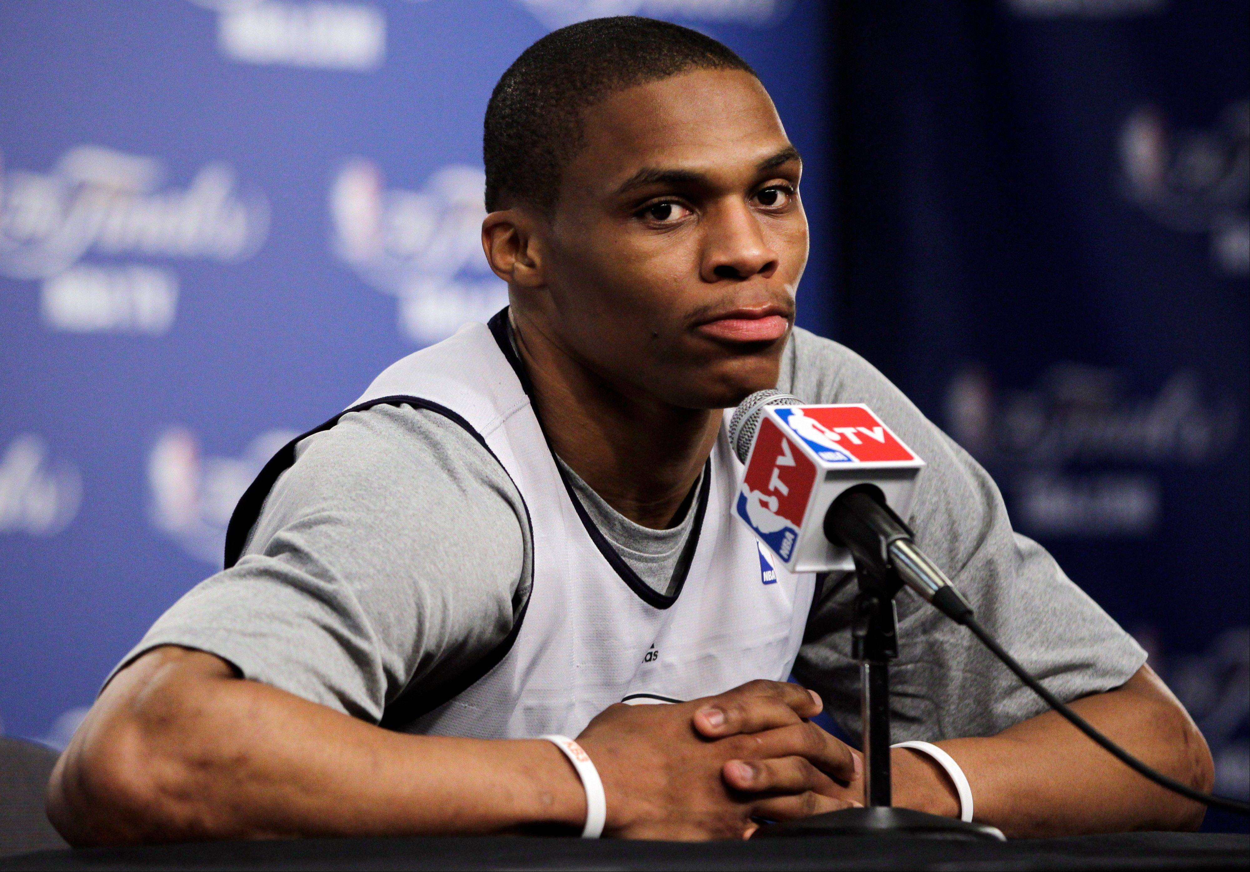 Oklahoma City Thunder guard Russell Westbrook averaged 20.5 points while Oklahoma City split two regular-season meetings with the Heat, but was relatively inefficient.
