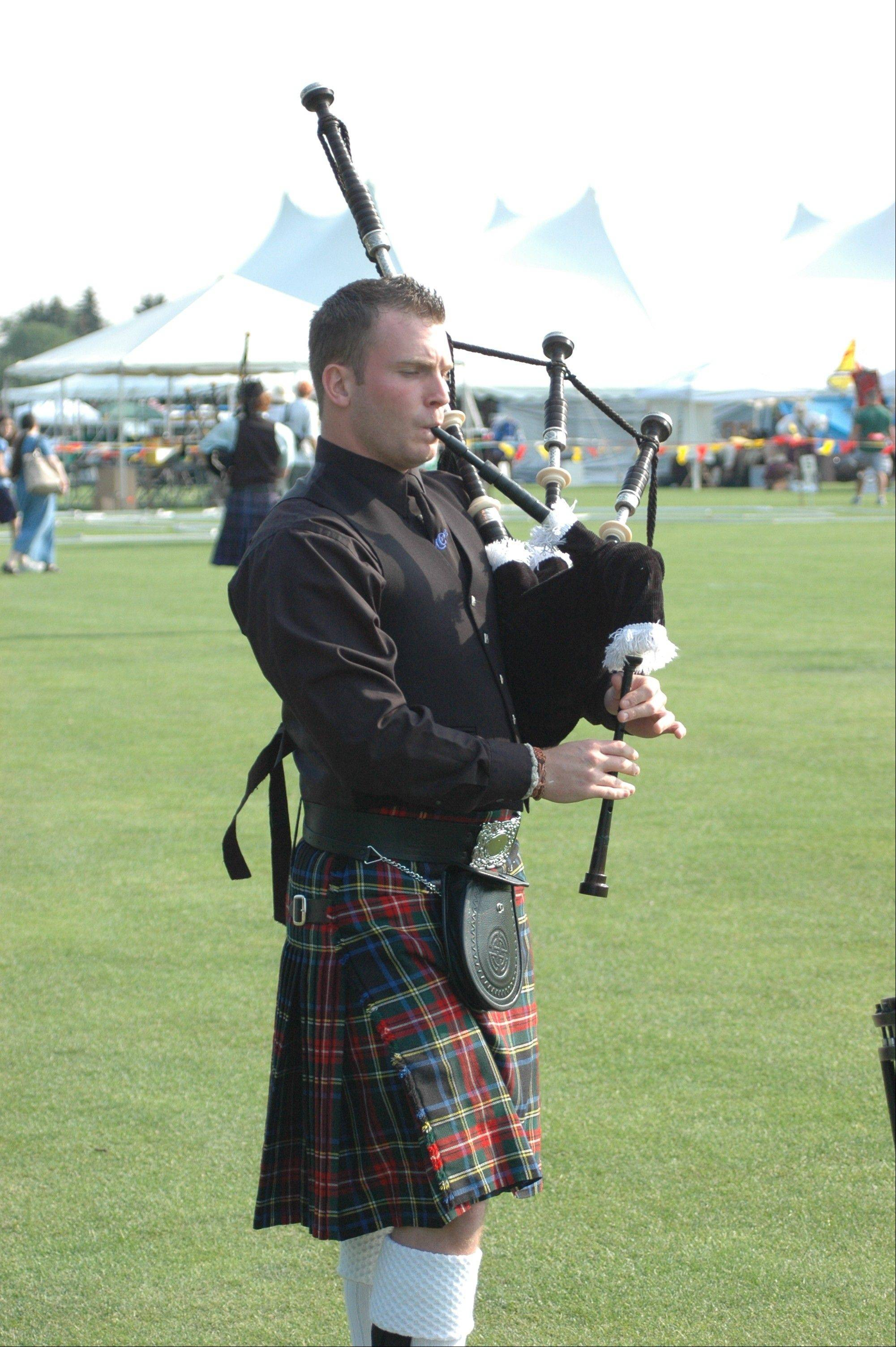 The Scottish Festival and Highland Games at Hamilton Lakes in Itasca features music competitions for bagpipers.