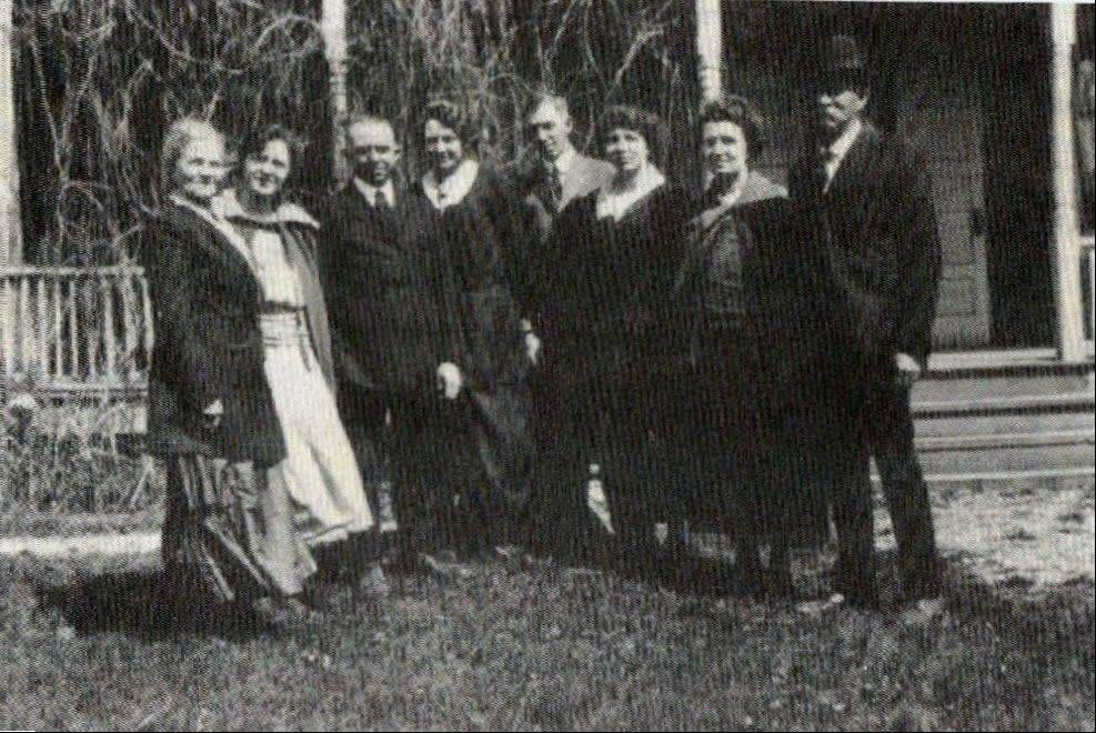 The William and Dorothea Graue family, from left, Dorothea, Laura, Theodore, Dody, Walter, Tillie, Lizzie and William.