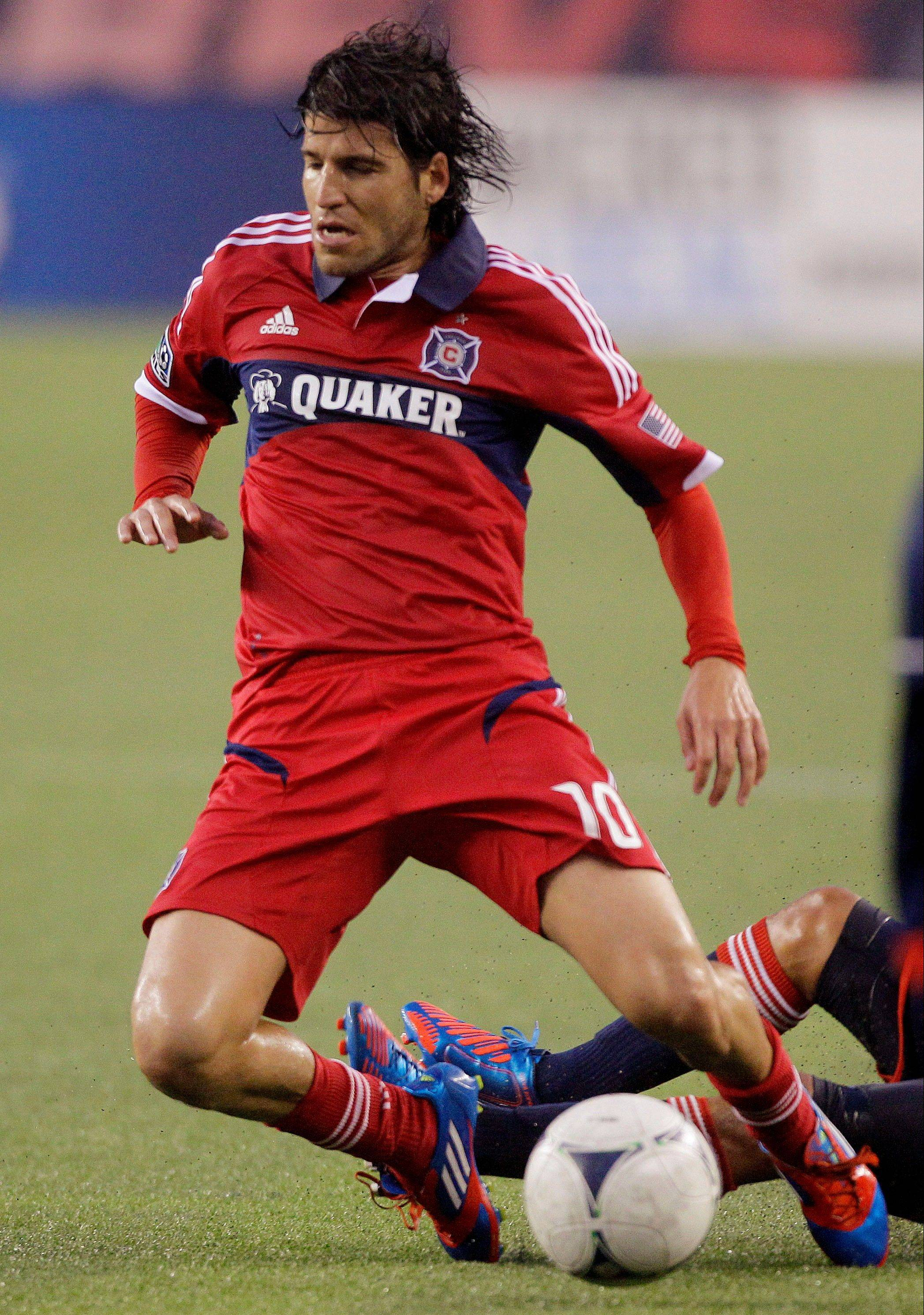 The Chicago Fire must decide if it will keep midfielder Sebastian Grazzini , whose contract expires at midseason.