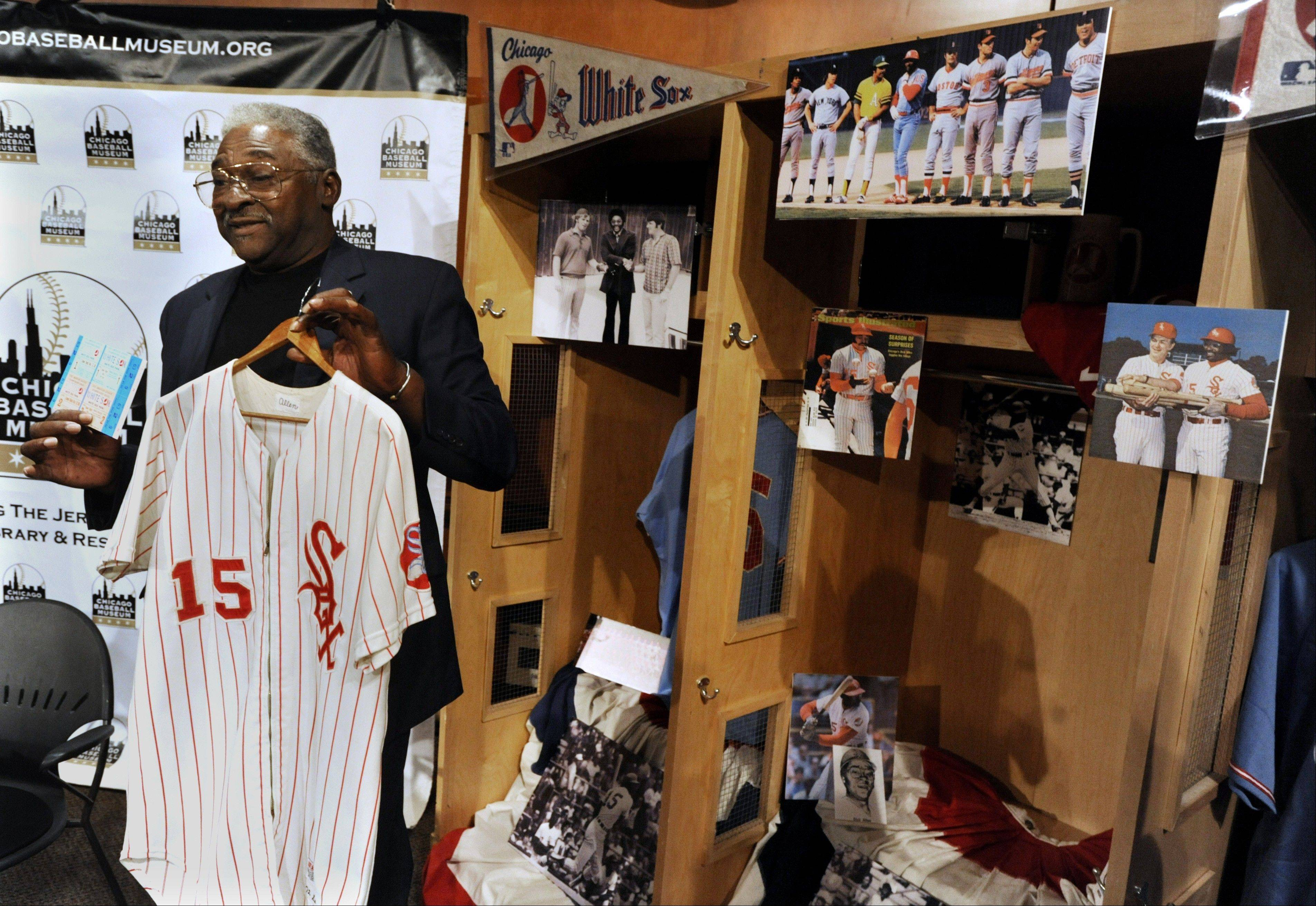 Former White Sox slugger Dick Allen at.... Monday, June 11, U.S. Cellular Field news conference...