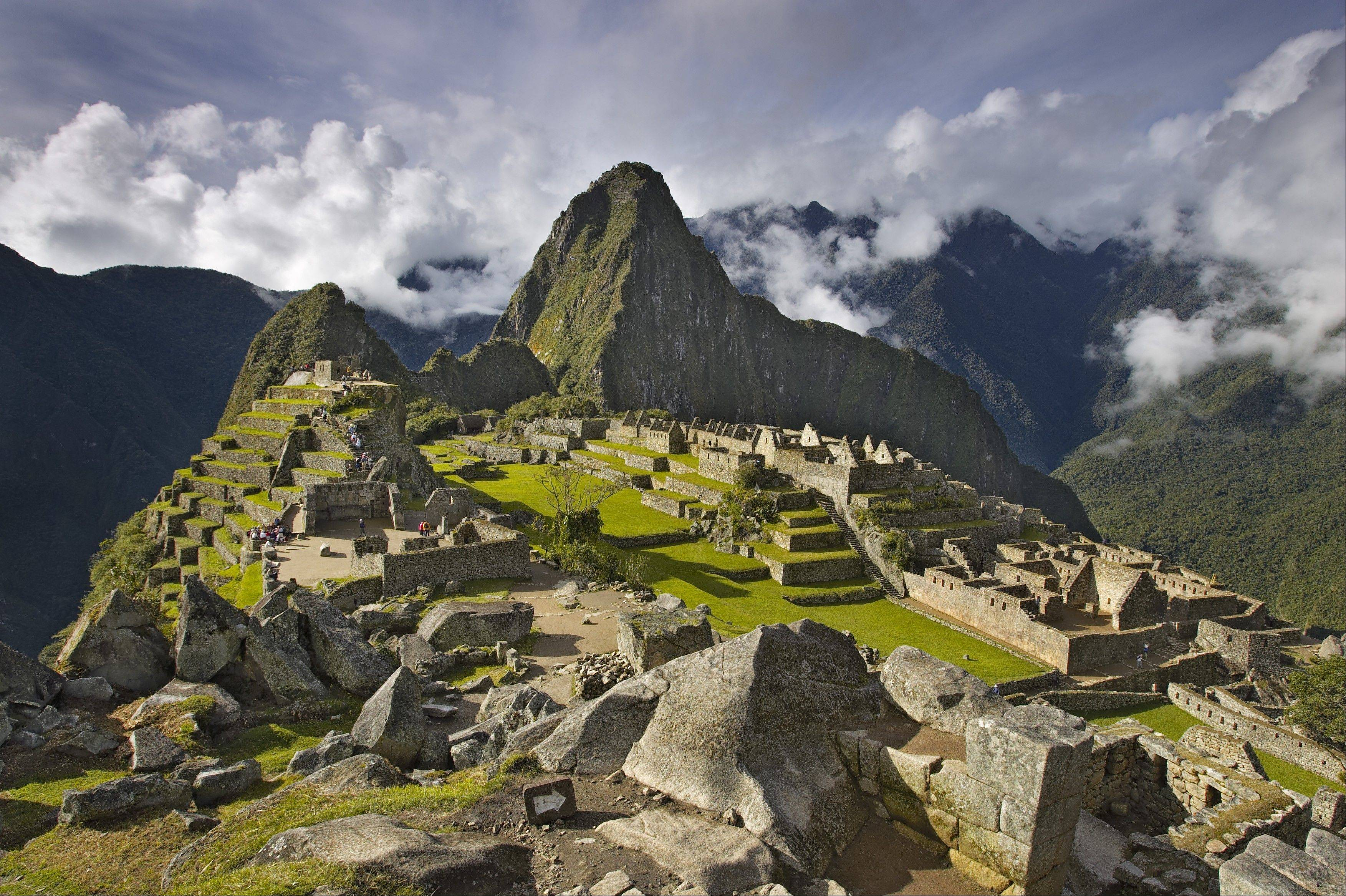 This photograph of Machu Picchu in Peru is part of the artwork by Hunt Harris on sale at North Central College to help fund the Riverwalk Gateway project.