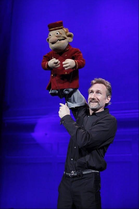 "Brian Henson manipulates a puppet in the adults-only show ""Stuffed and Unstrung"" which plays the Bank of America Theatre in Chicago now through Sunday, June 17."