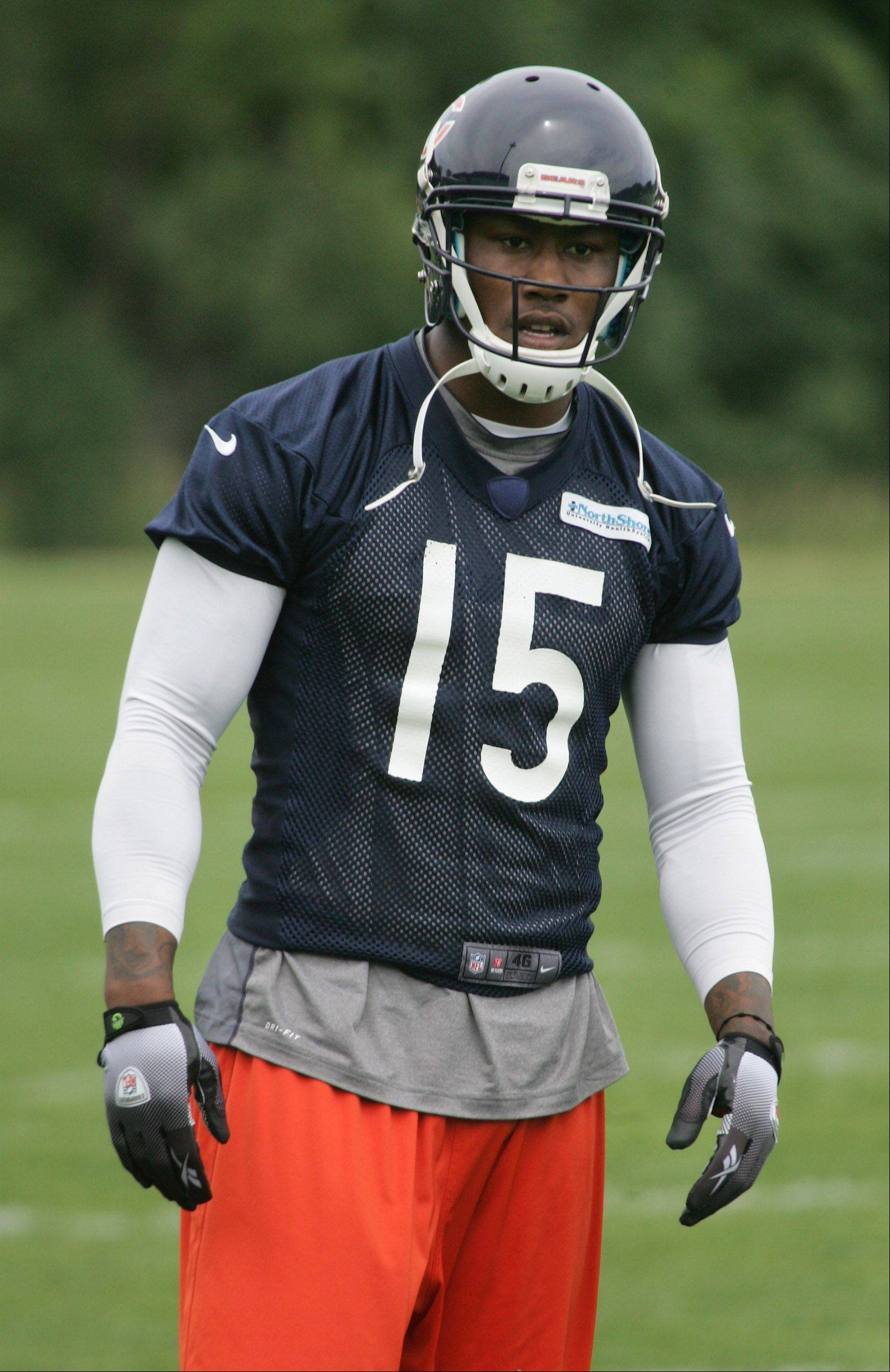 Wide receiver Brandon Marshall's at Bears minicamp this week even has the defense buzzing with excitement.