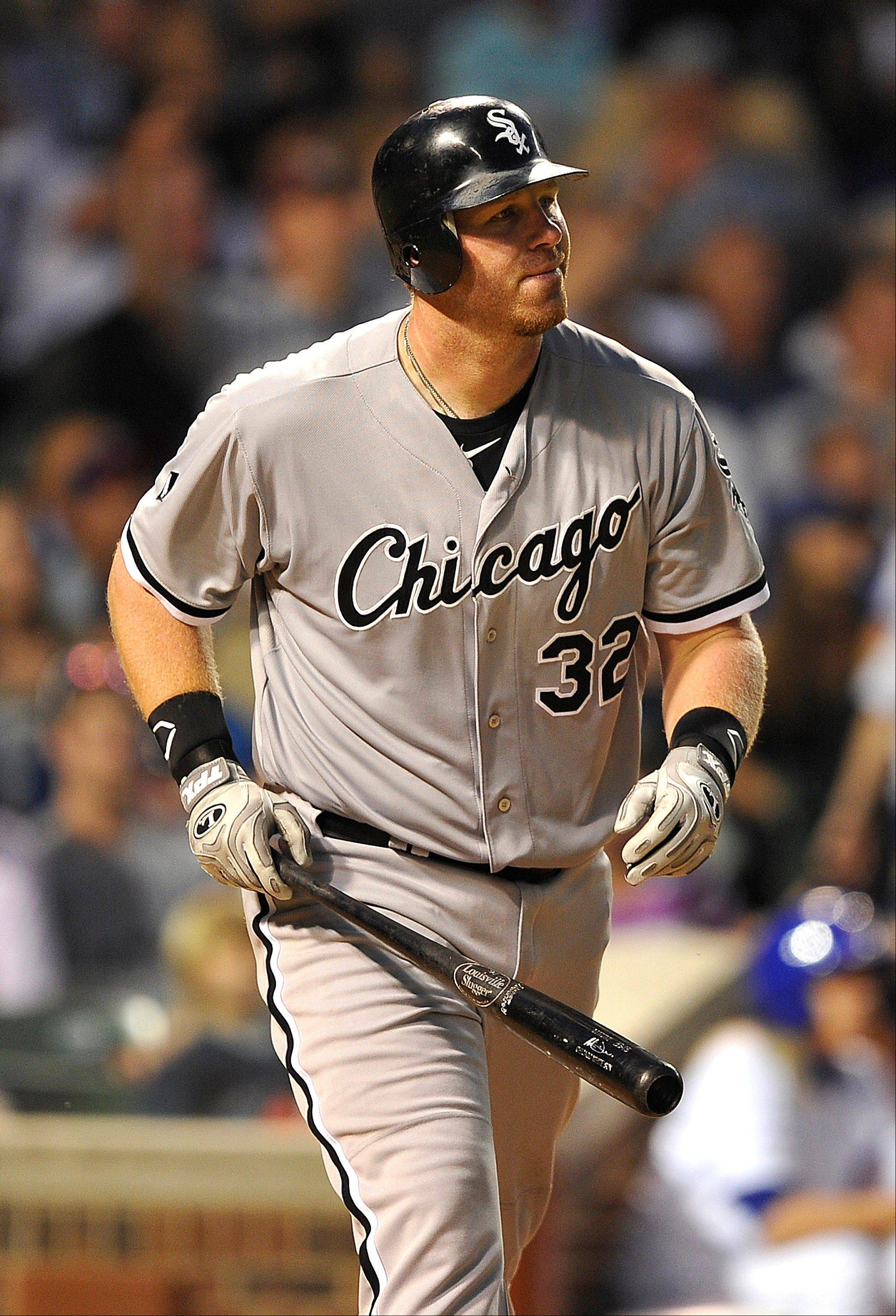 White Sox slugger Adam Dunn has been scratched from the lineup for Wednesday night's game against the St. Louis Cardinals because of a sprained right ankle.