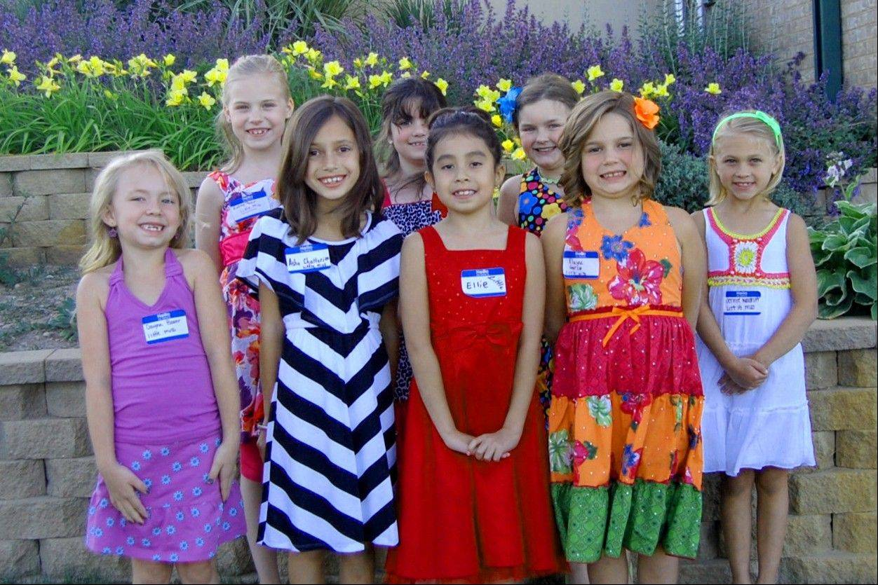 The contestants in the Little Miss Grant Township 2012 Pageant: Dayna Baehr, Asha Chatterjea, Ellie Escobeda, Taylor Koehler, Audrey Mazur, Shayna Mitchell and Jennie Woodruff.