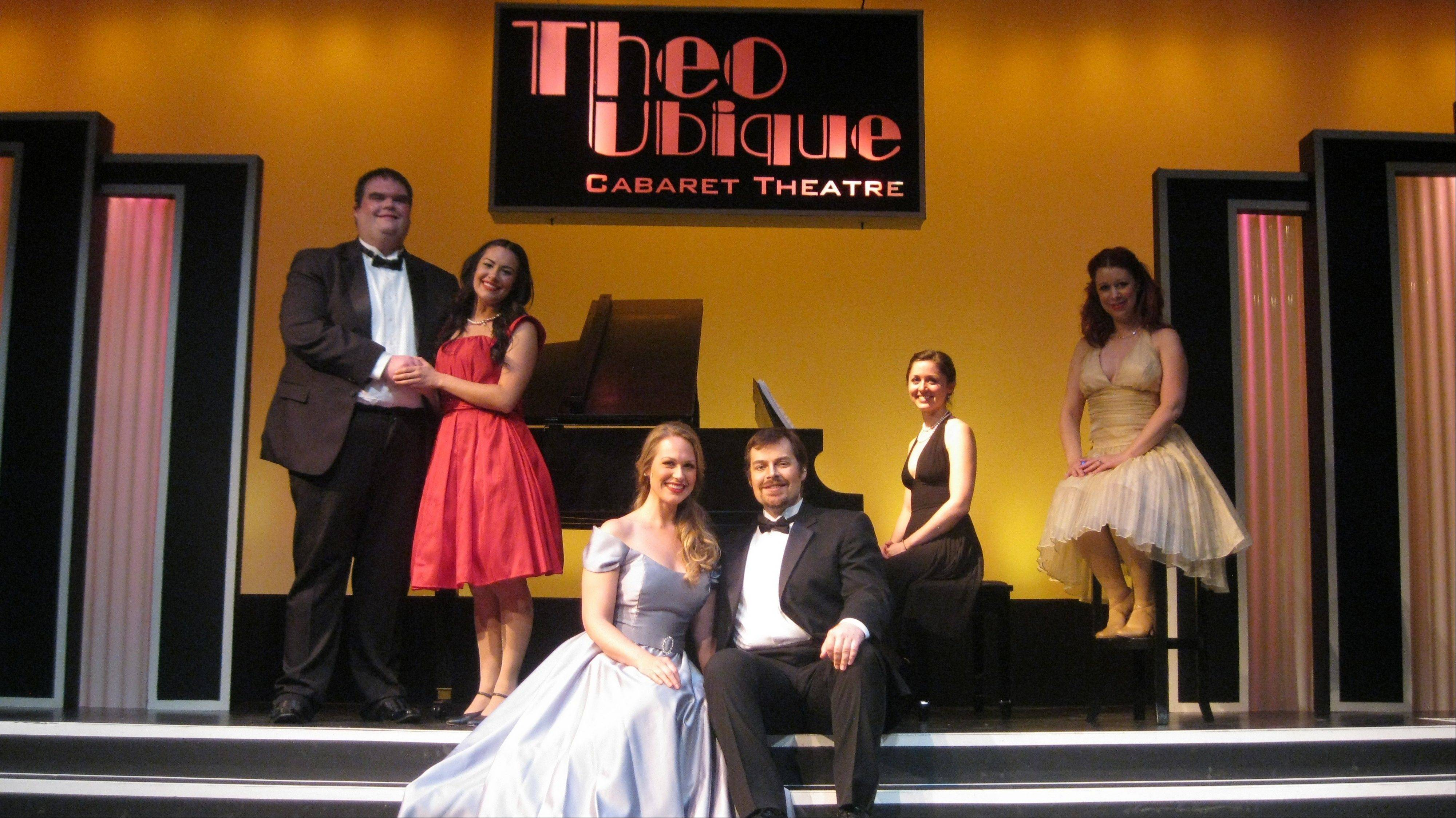 "Fox Valley Repertory presents Theo Ubique's remount of its hit show, ""Some Enchanted Evening: The Songs of Rodgers and Hammerstein,"" as part of its summer theater festival. The new cast includes, from left, Matt McNabb, Danielle Floyd, Amanda Batcher, Chadley Ballantyne, Elizabeth Doran and Amanda Hartley."