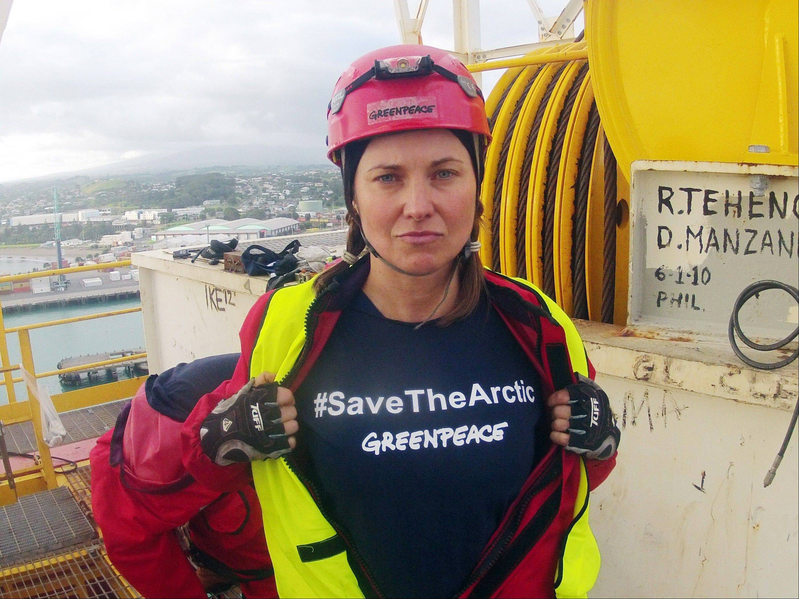 "Actress Lucy Lawless joins activists in stopping a Shell-contracted drillship from departing the port of Taranaki, New Zealand. Lawless says she has ""no regrets"" for boarding a ship in a protest action, which on Thursday resulted in her pleading guilty to trespass charges."
