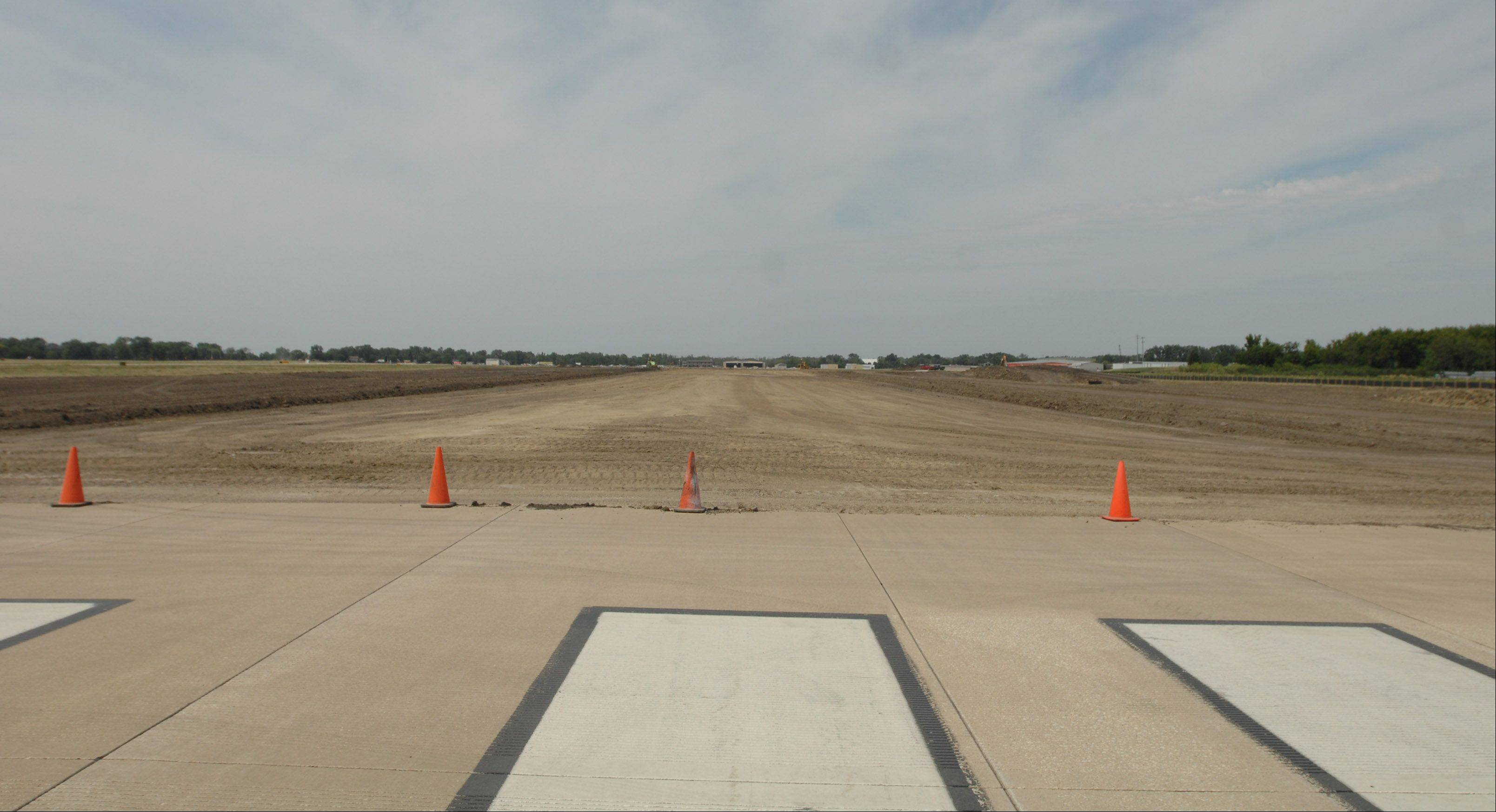 Construction to extend DuPage Airport's second-longest runway is under way.