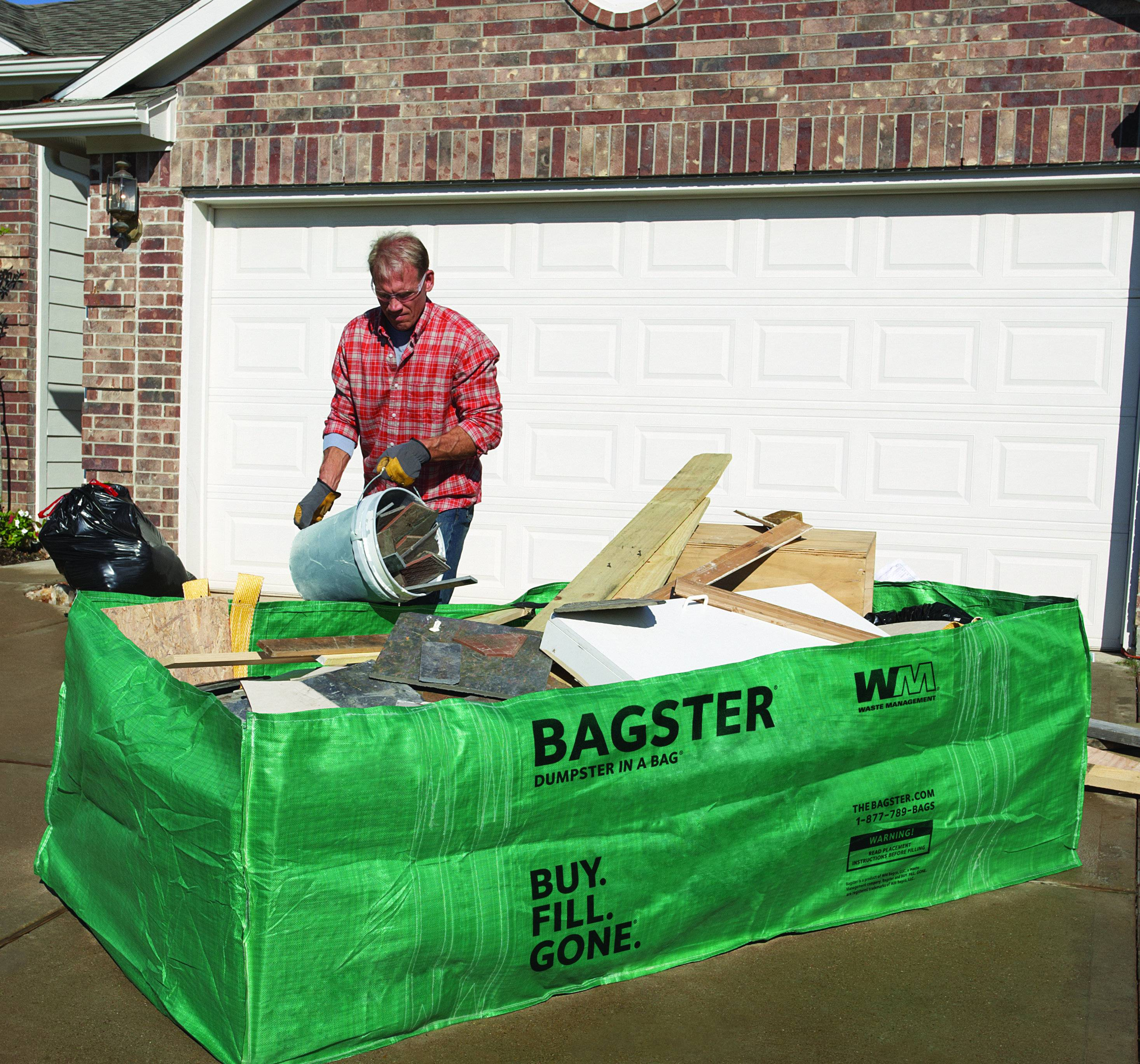 Bagster� is an easy-to-use disposal container that's a great alternative to large industrial waste boxes that will make Dad's cleanup work go away easier.