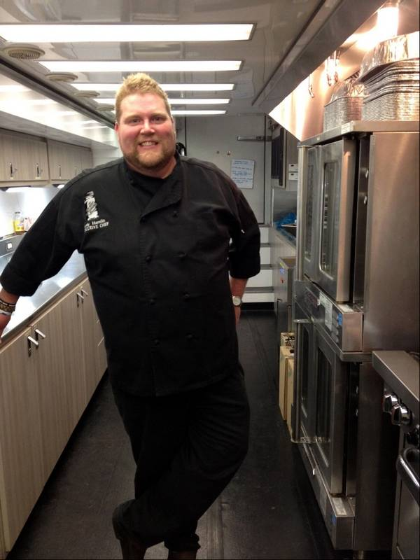 Zac brown band fans eat up what the chefs cooking executive chef rusty hamlin and zac brown designed the mobile kitchen from which they can serve m4hsunfo