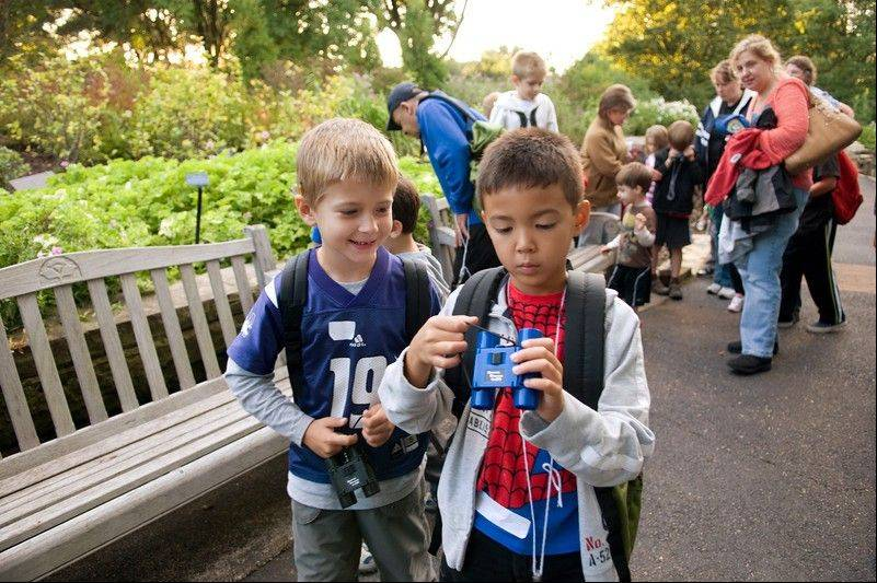 Take an evening hike through the Dixon Prairie area of the Chicago Botanic Garden at the garden's Family Campout on Saturday, July 28.