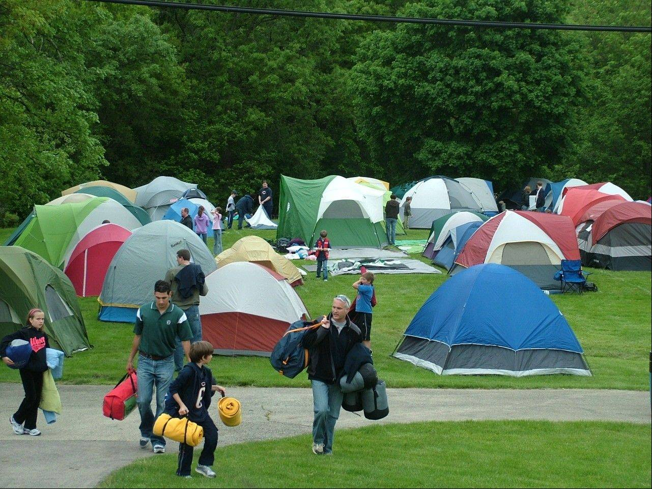 Although designed for Scouts, local families are also welcome at the Kane County Cougars overnight campout.