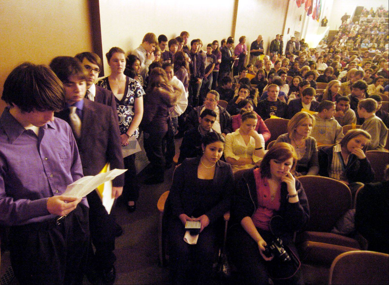 The Maine Township High School District 207 school board Friday approved a new teachers' contract without any controversy. It was a stark contrast from this 2010 public hearing where crowds gathered to protest the district's proposed budget cuts and layoffs.