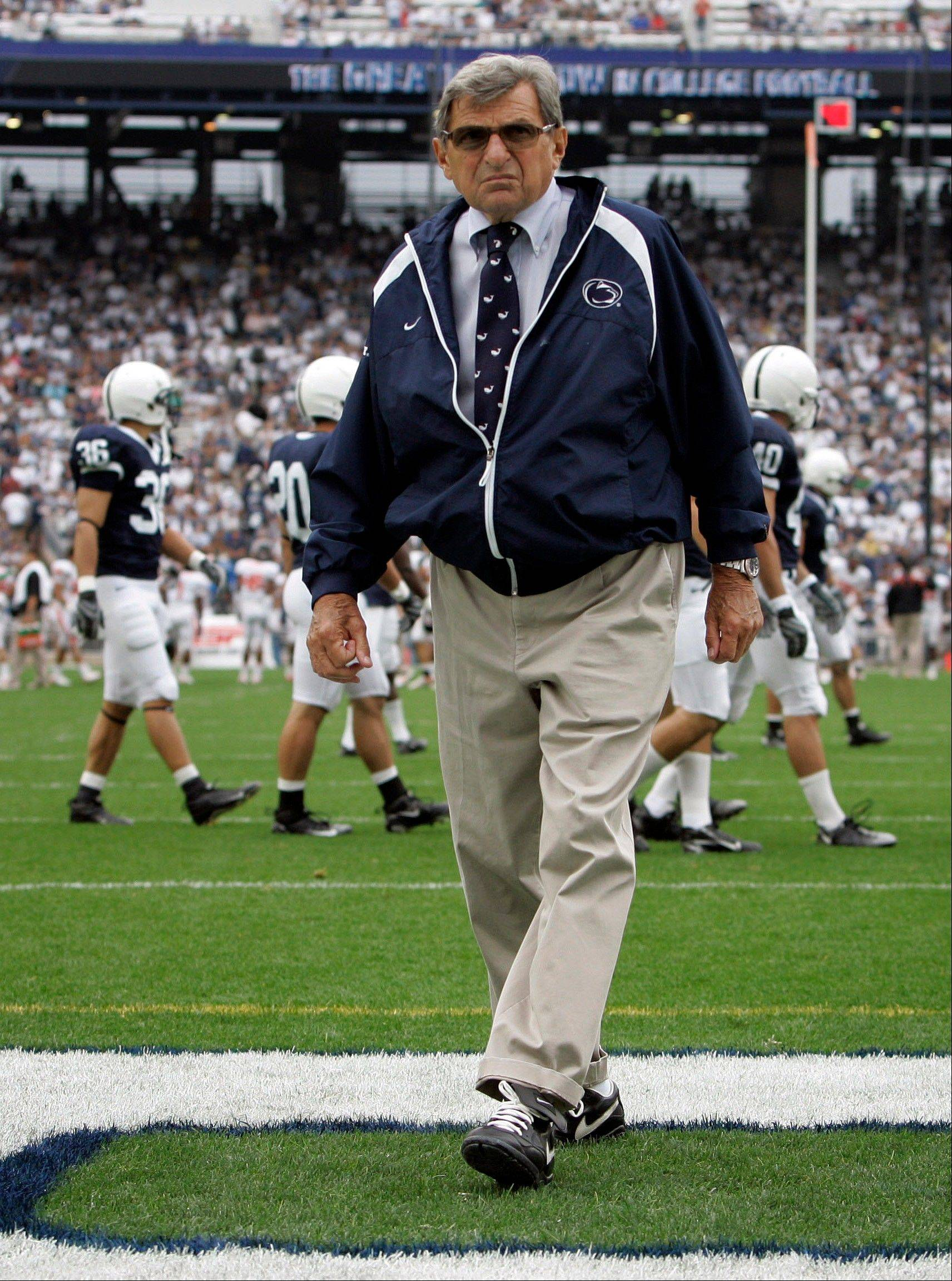 Former Penn State football coach Joe Paterno died of cancer in January at age 85, less than three months after being ousted by university trustees.