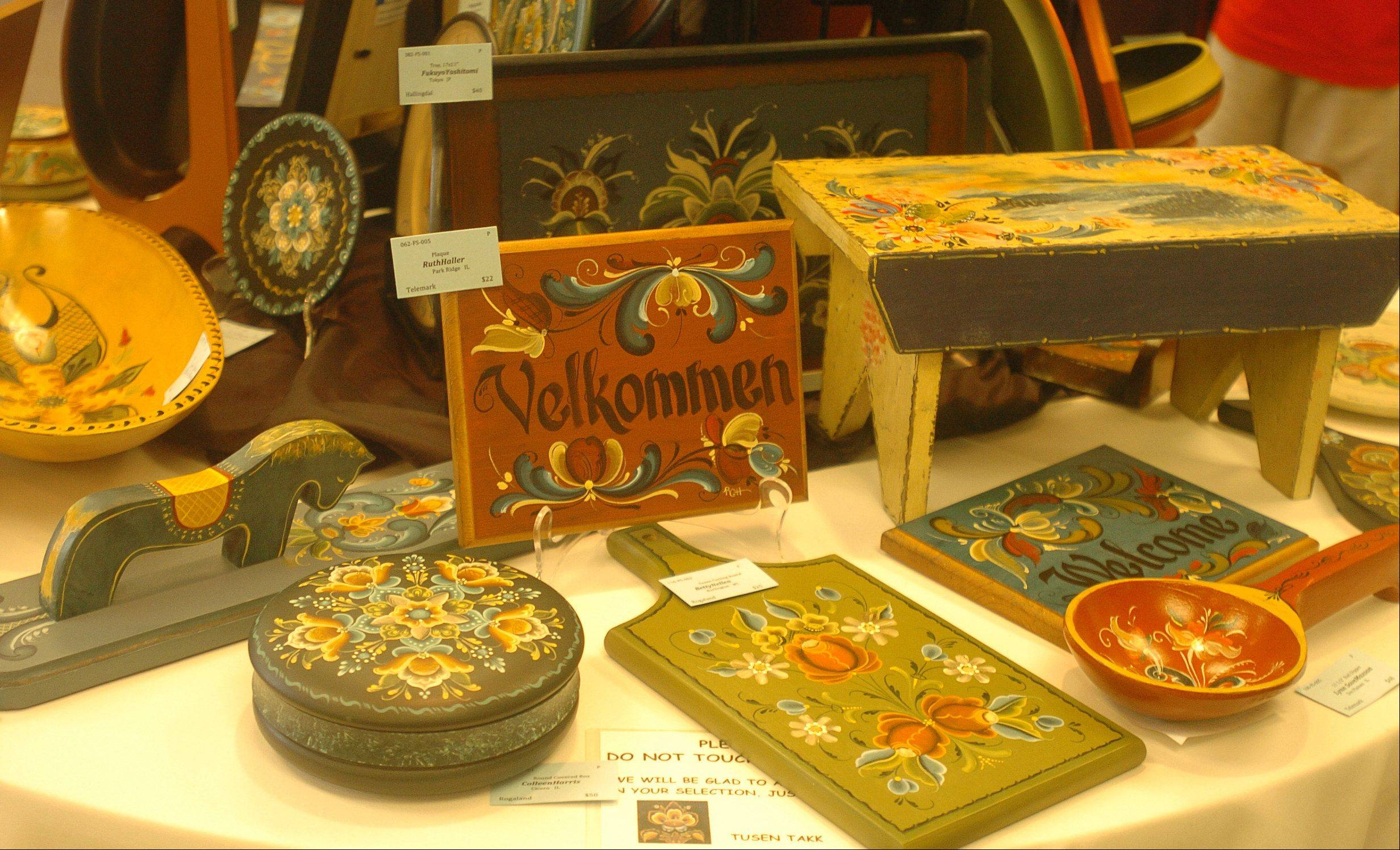 Rosemaling, an Old World style of decorative folk painting, will be showcased at a show set for 10 a.m. to 5 p.m. Wednesday through Saturday, June 20-23, at Swedish Days. The show is hosted by the Geneva History Center.
