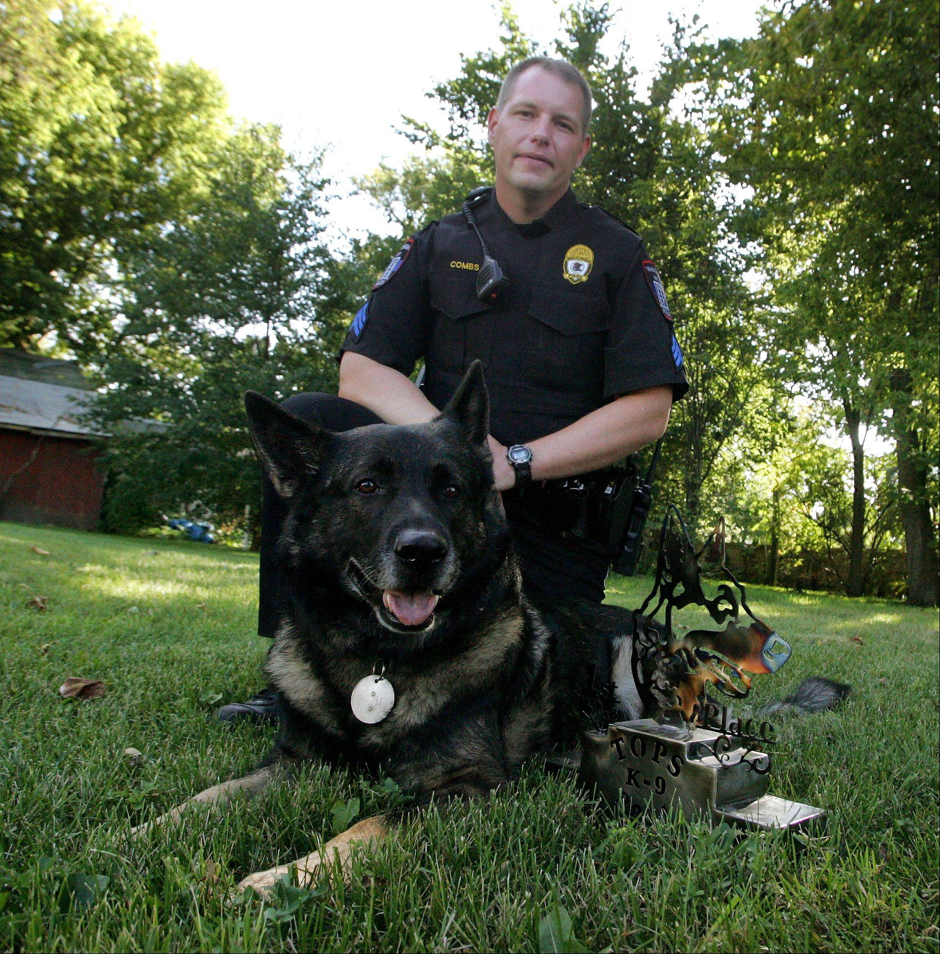 Sgt. John Combs and his canine partner, Maxx.