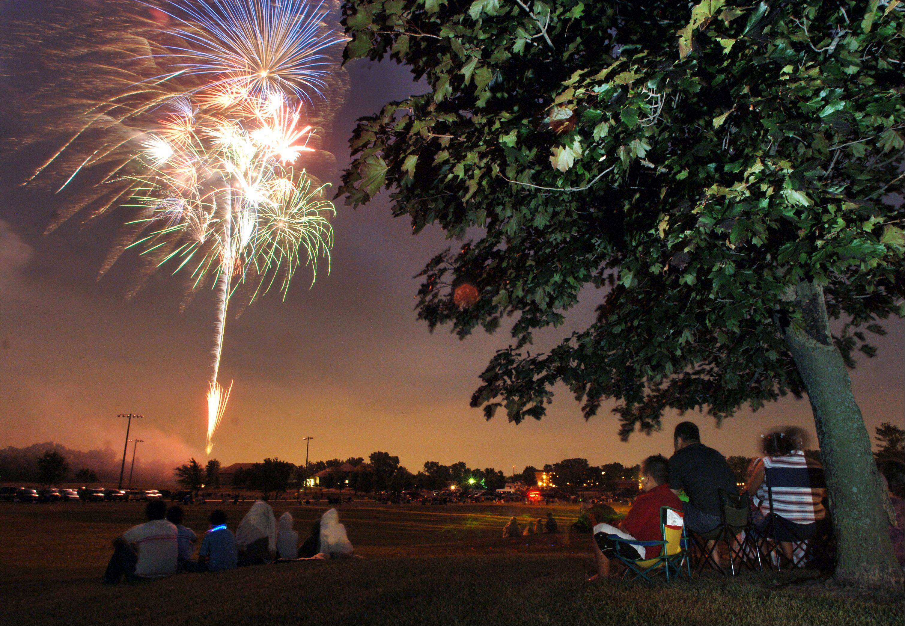 Wauconda's annual Fourth of July fireworks take place in Cook Park.
