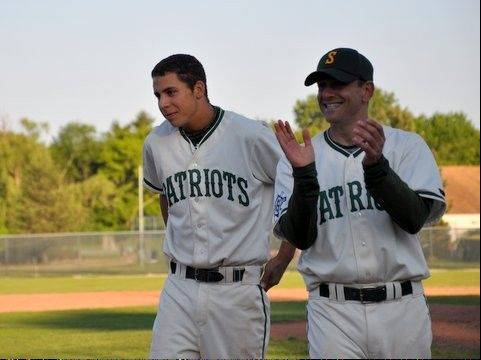 Jon Savarise, here at left with Stevenson coach Paul Mazzuca, was thrilled to be drafted by the White Sox.