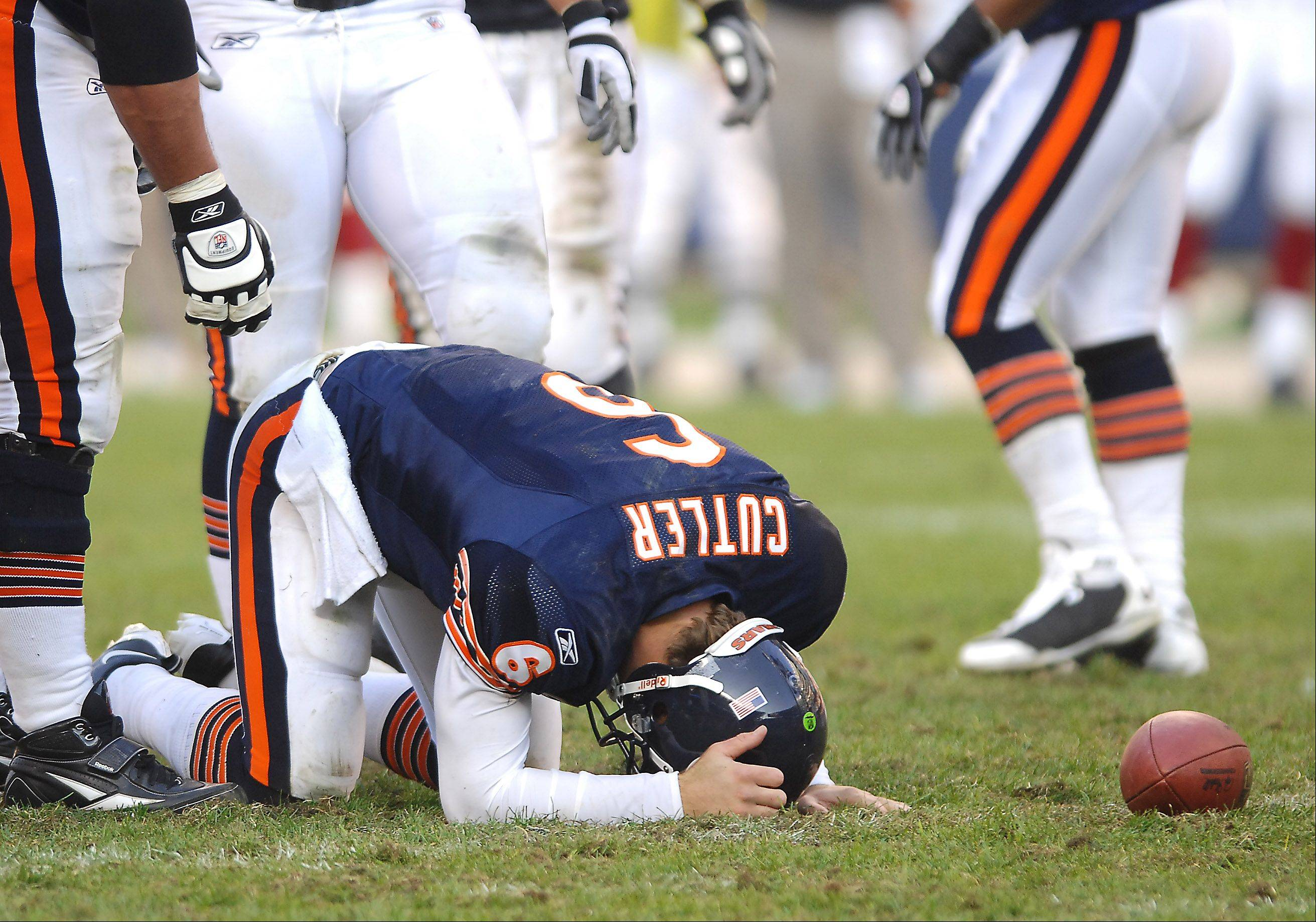 There's much talk in Chicago about the explosive offense the Bears could have with quarterback Jay Cutler and Pro Bowl receiver Brandon Marshall. But when Cutler is sacked at least three times in a game, his career record is 9-15.