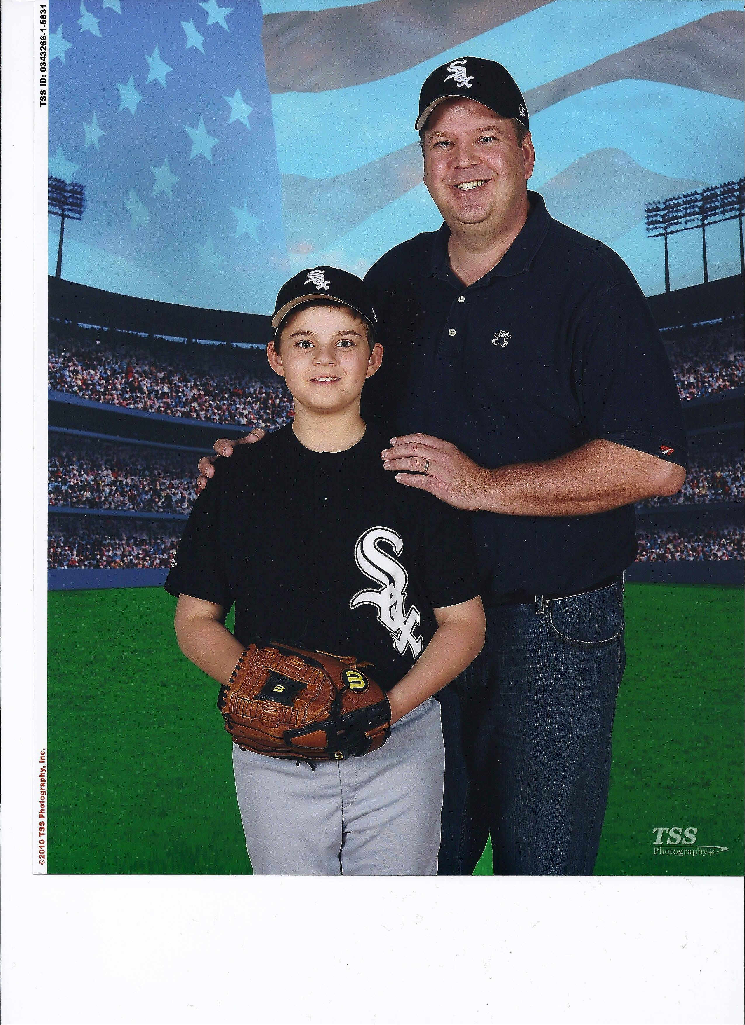 Even when he was undergoing proton therapy for his bone cancer, Ray Summins felt healthy enough to continue coaching his son Sam's baseball team in Elk Grove Village. The Hoffman Estates father has lost 86 pounds since this photo was taken, but doctors are confident he is on the path to a complete recovery.
