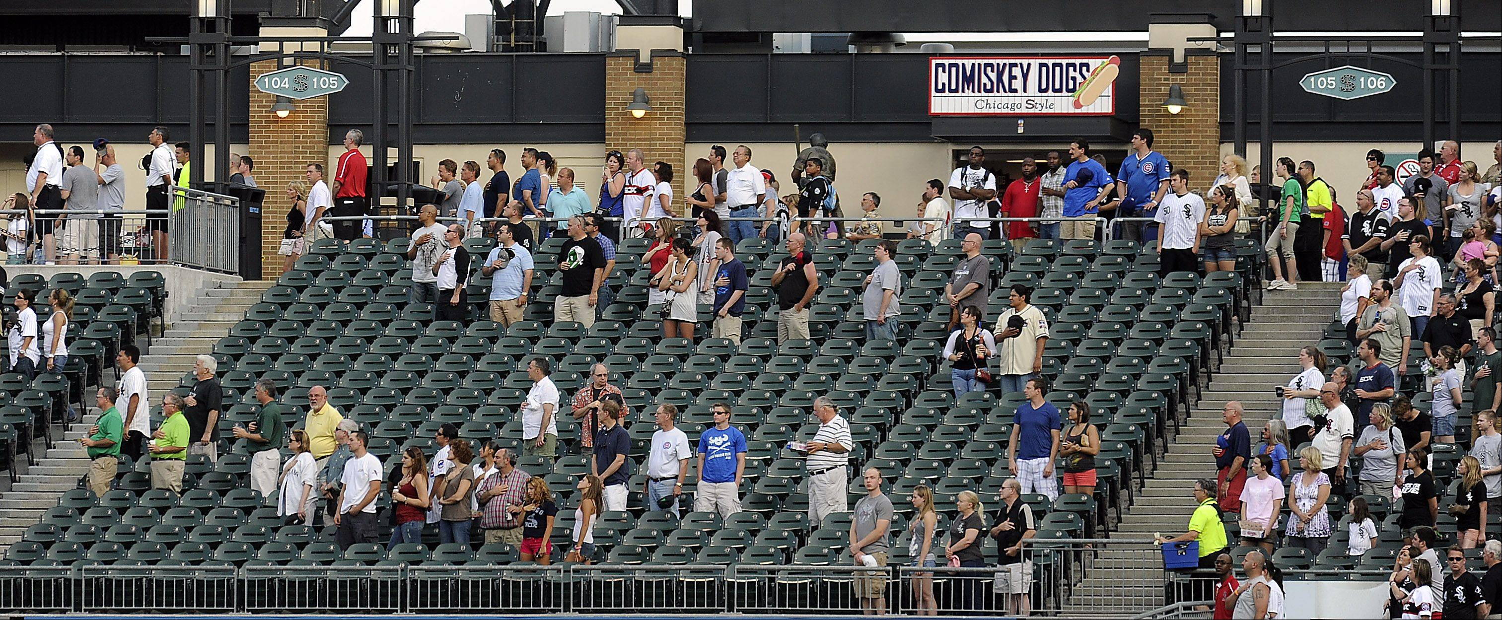 Empty seats were aplenty at US Cellular Field.