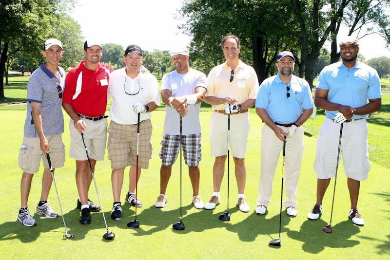Chris Williams (Actor & Comedian -- Curb Your Enthusiasm, Dodgeball) with guests at the 2011 Special Kids Network Celebrity Golf Outing