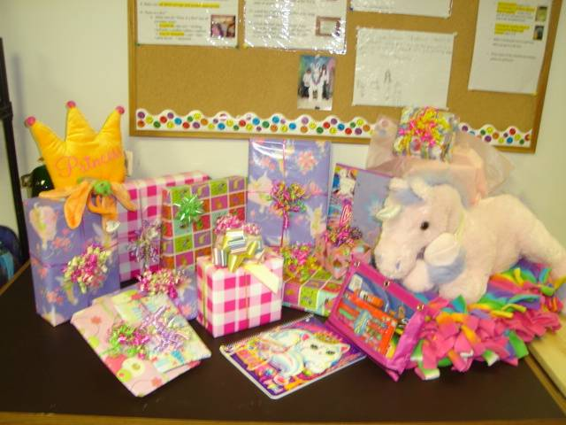 Presents for needy children as part of HSP's Children's Birthday Project