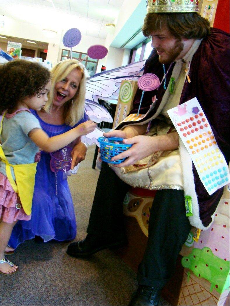 Princess Lollipop and King Kandy gave out candy to the kids that played CandyLand during the Summer Reading celebration at the Palatine Library June 2.