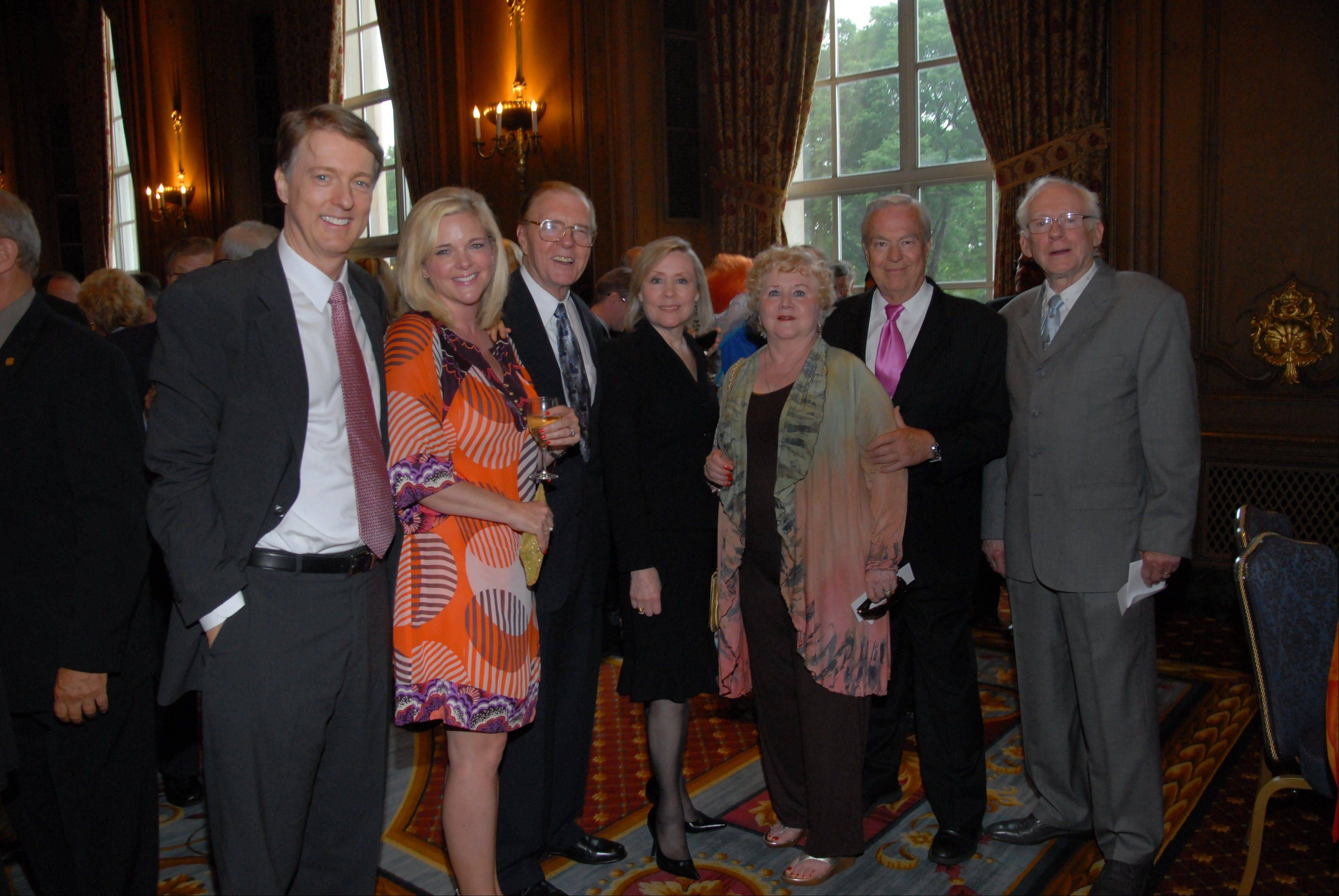 "Jack Taylor poses with members of WBBM TV, including Harry Volkmann, far right, during a 2010 ""Salute to Chicago Television"" event."
