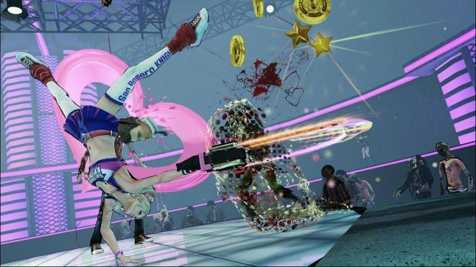 "Gamers will get a kick out of playing as Juliet Starling, a high school cheerleader zombie slayer, in ""Lollipop Chainsaw."""