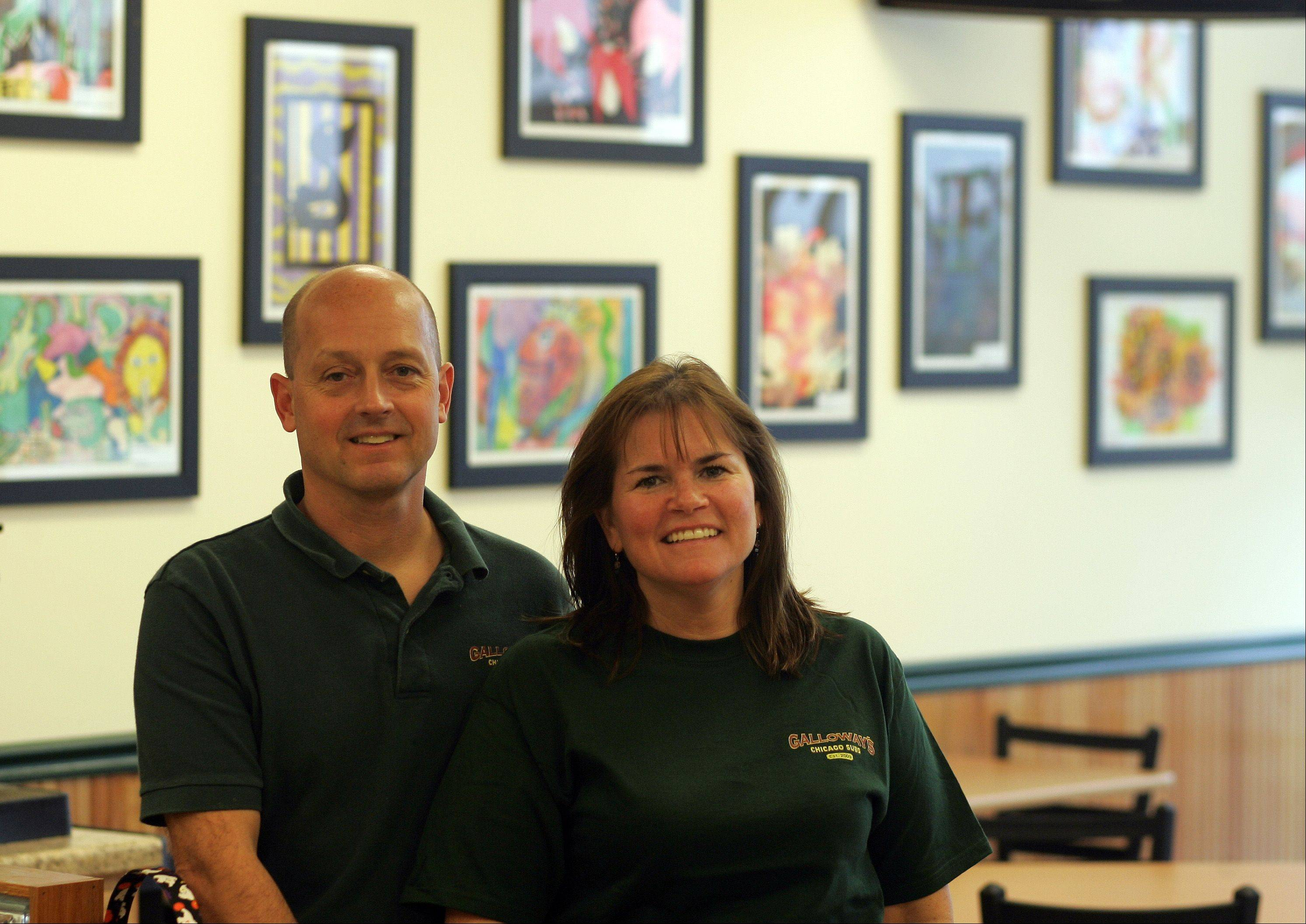 T.J. and Judy Galloway are the owners of Galloway's Chicago Subs in Crystal Lake.