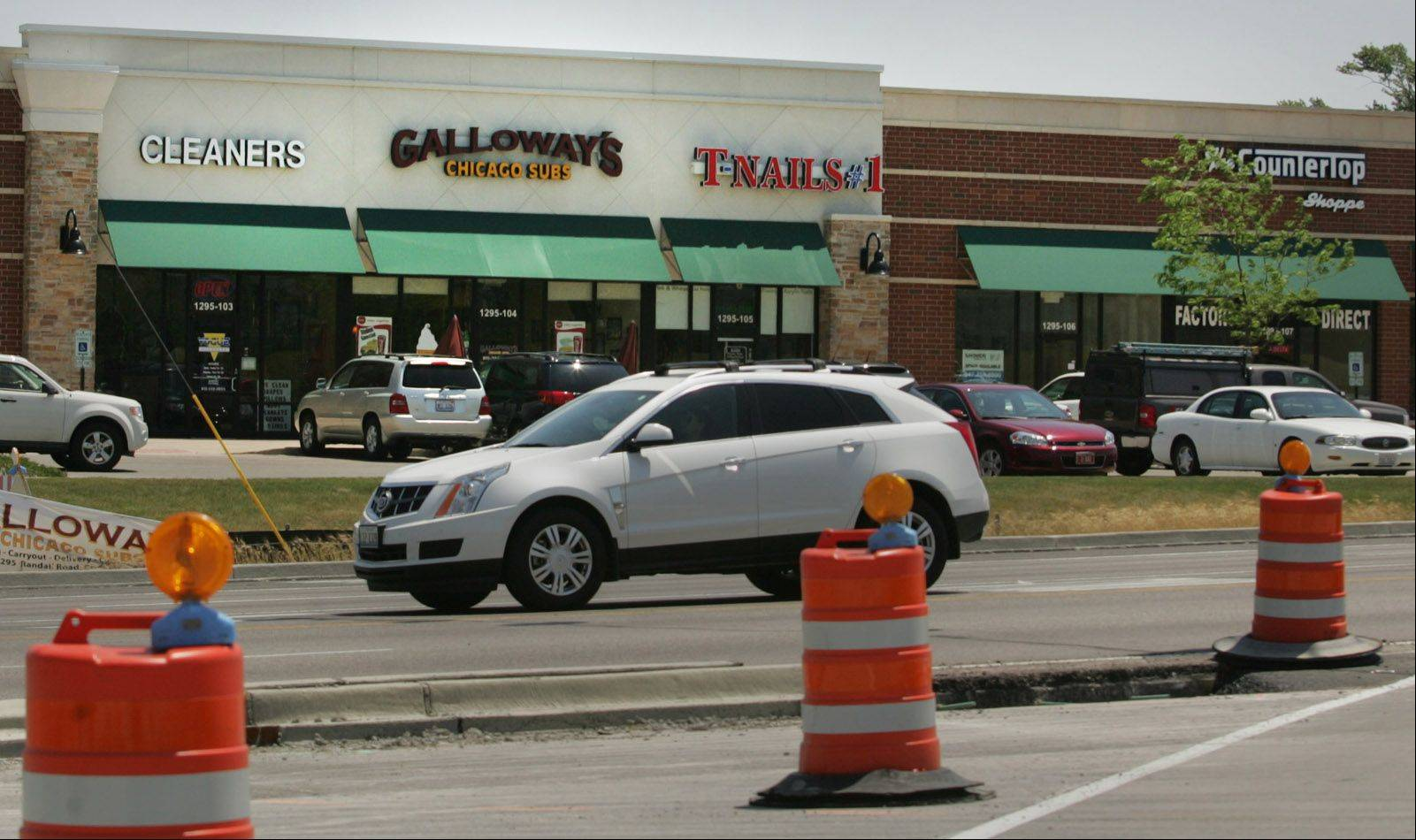 Galloway's Chicago Subs in Crystal Lake has been affected, like many businesses in the area, by road construction.