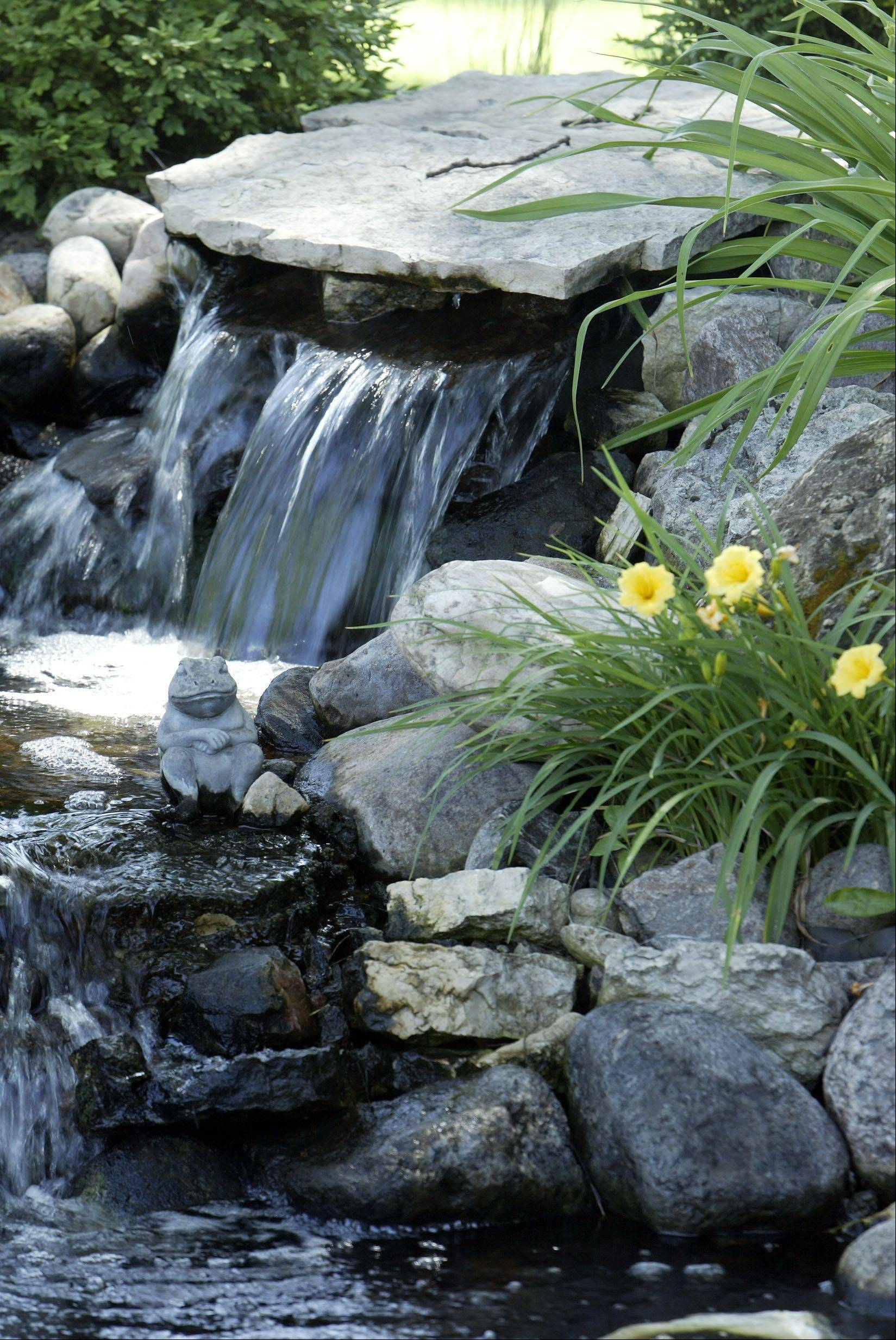 A waterfall is featured at a previous year's Fox Valley Garden Walk. This year's walk will showcase seven gardens on Elgin's west side.