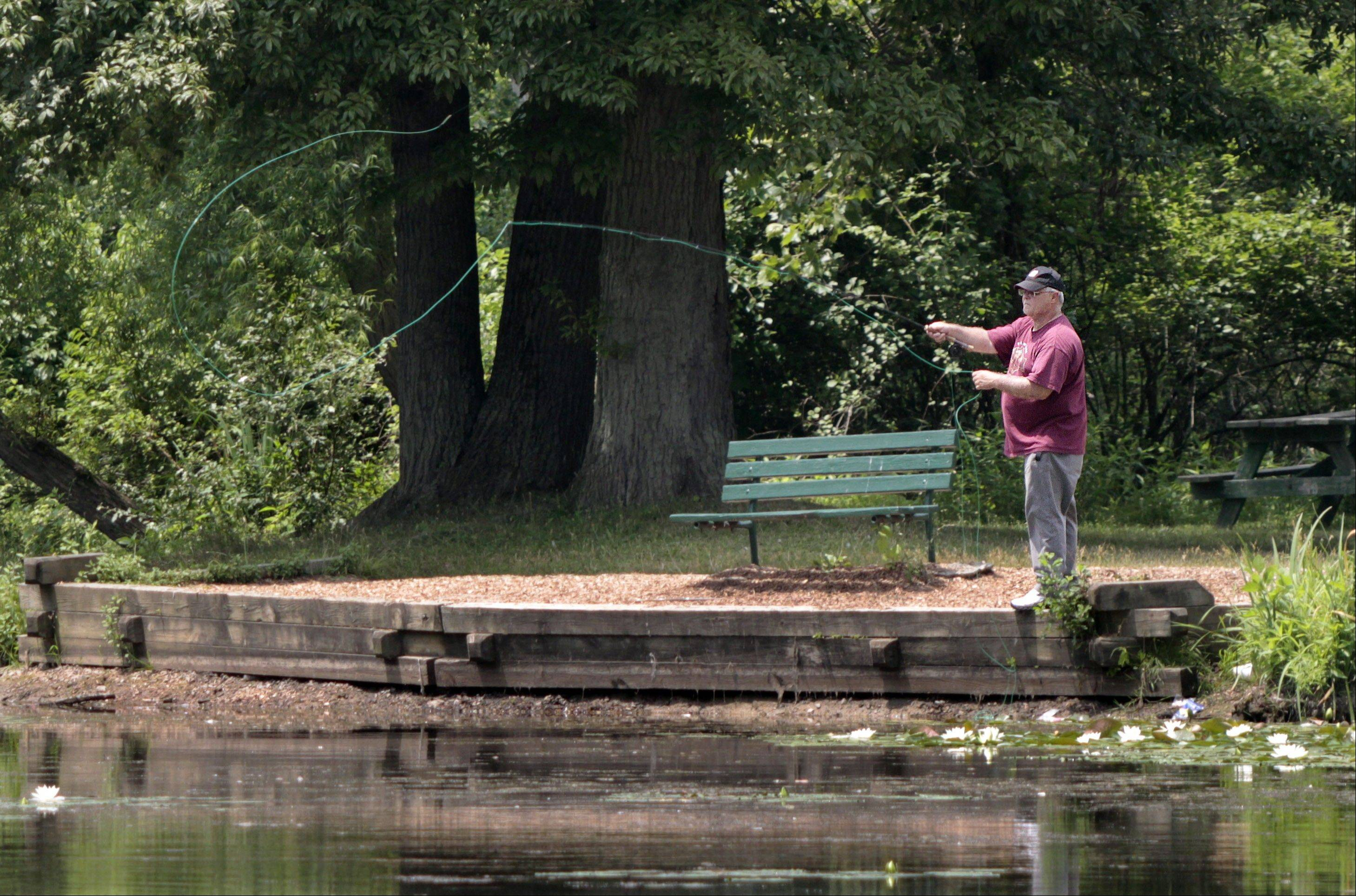 This angler spent an afternoon fly fishing for bluegills and bass at Allegheny County's North Park in Allison Park, Pa. Mike Jackson says it's not as difficult as you might think.