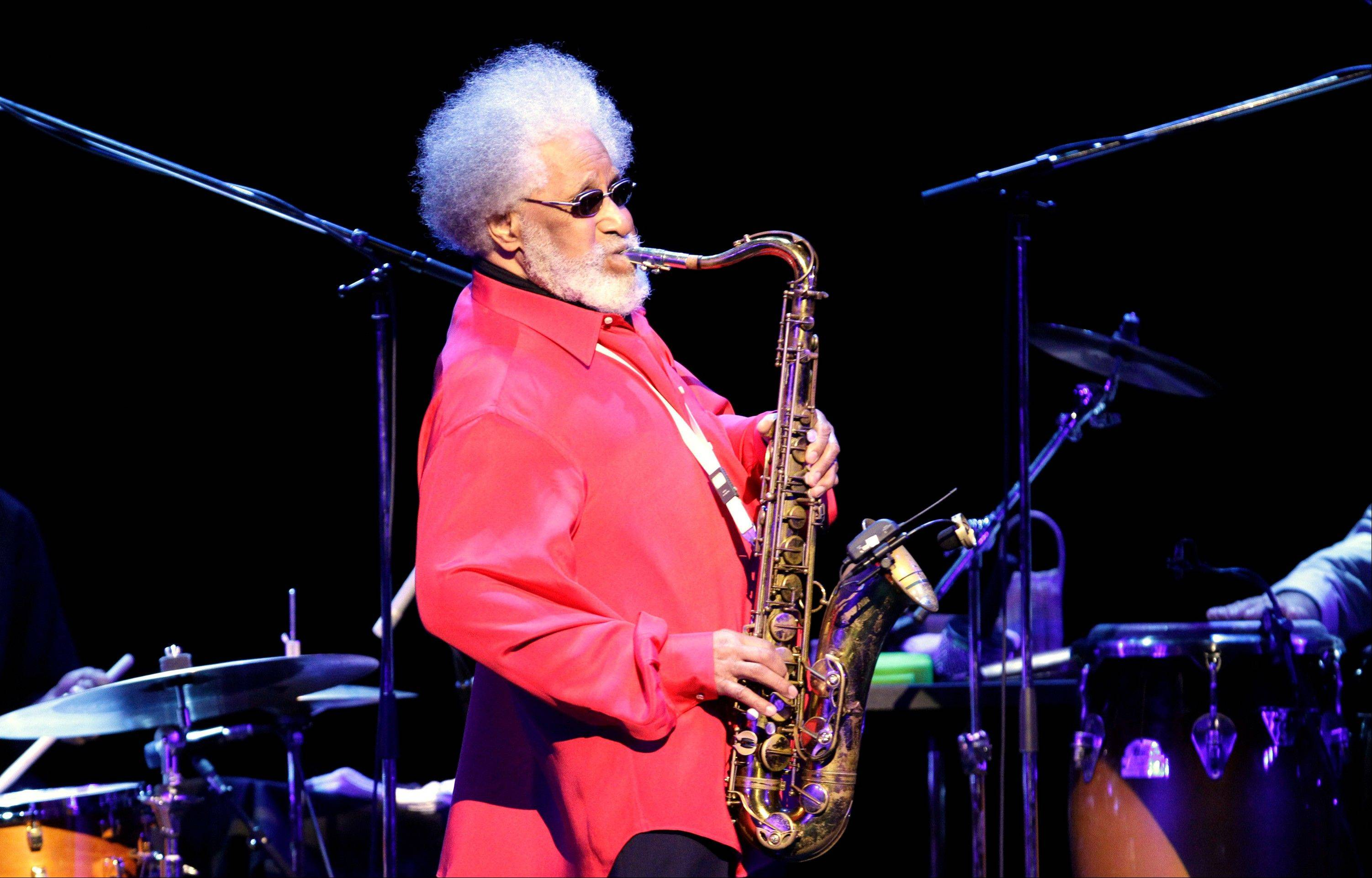 Jazz great Sonny Rollins was a triple winner Wednesday at the annual Jazz Awards, garnering musician of the year honors for the second straight year.