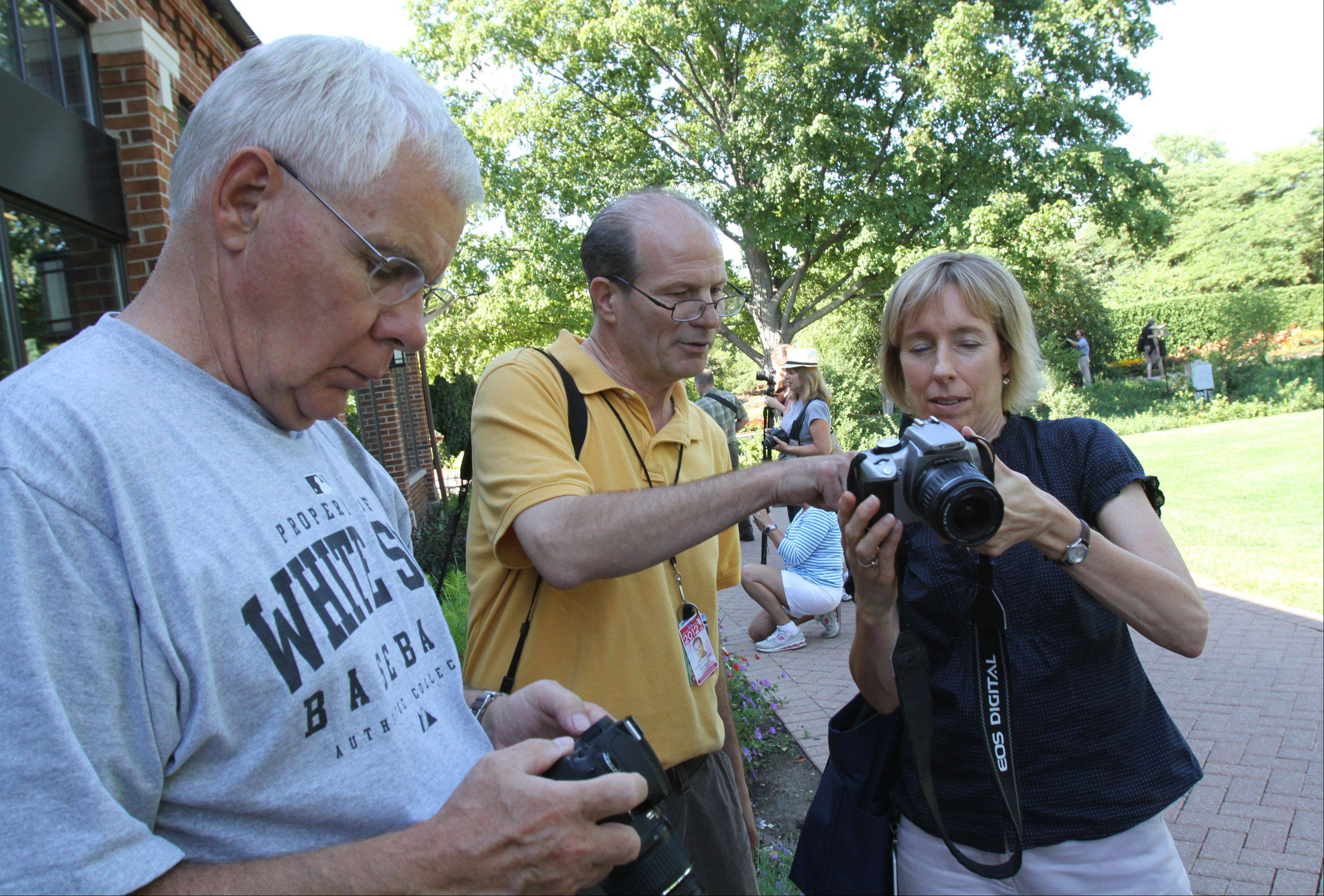 Nearly 100 participants came to Cantigny Park in Wheaton on Thursday to attend a photography workshop lead by Daily Herald photographers. The event is part of the paper's monthly Subscriber Total Access events.