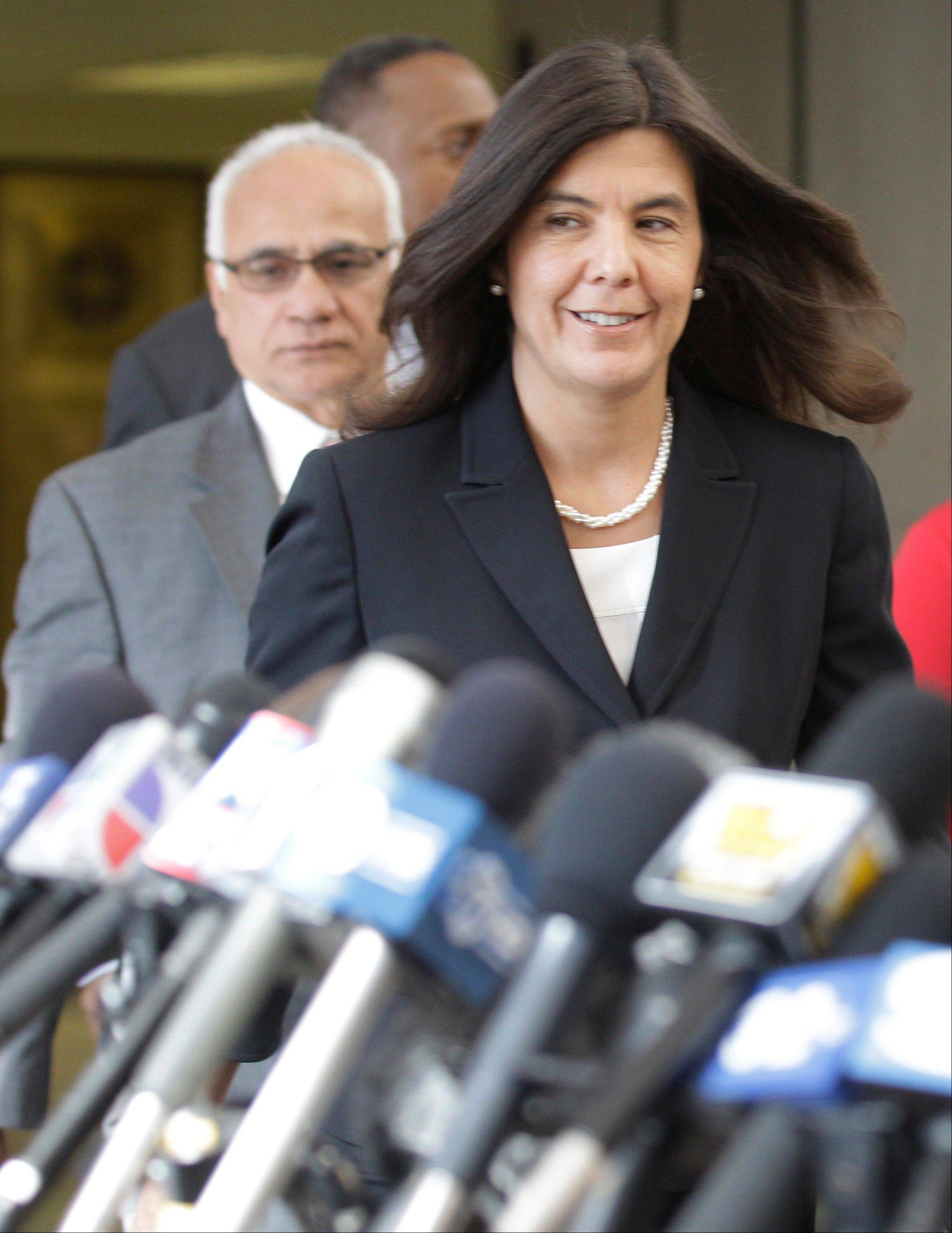 Cook County States Attorney Anita Alverez .
