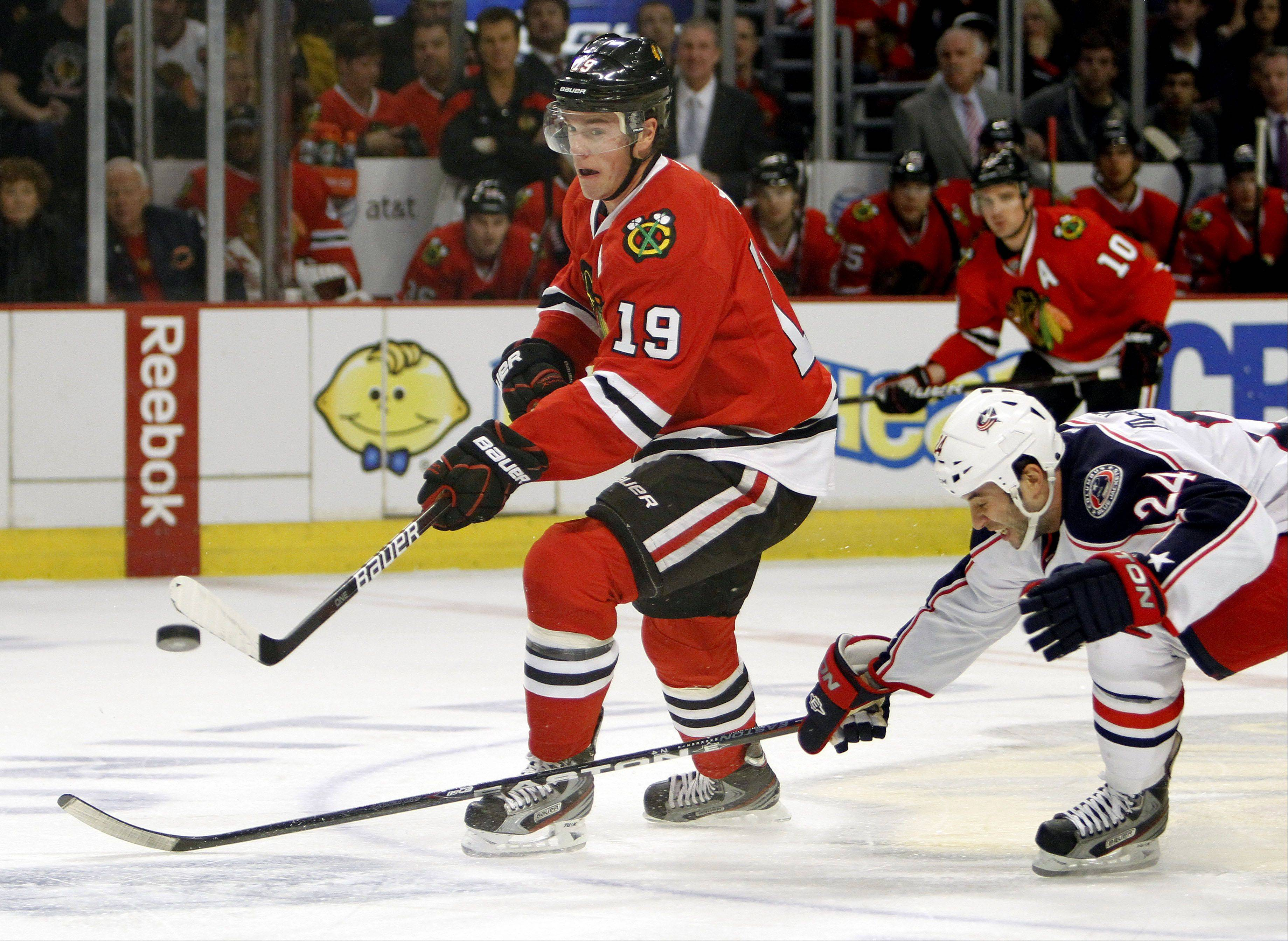 The Chicago Blackhawks and captain Jonathan Toews will open the 2012-13 season against the Columbus Blue Jackets at the United Center on Oct. 13.