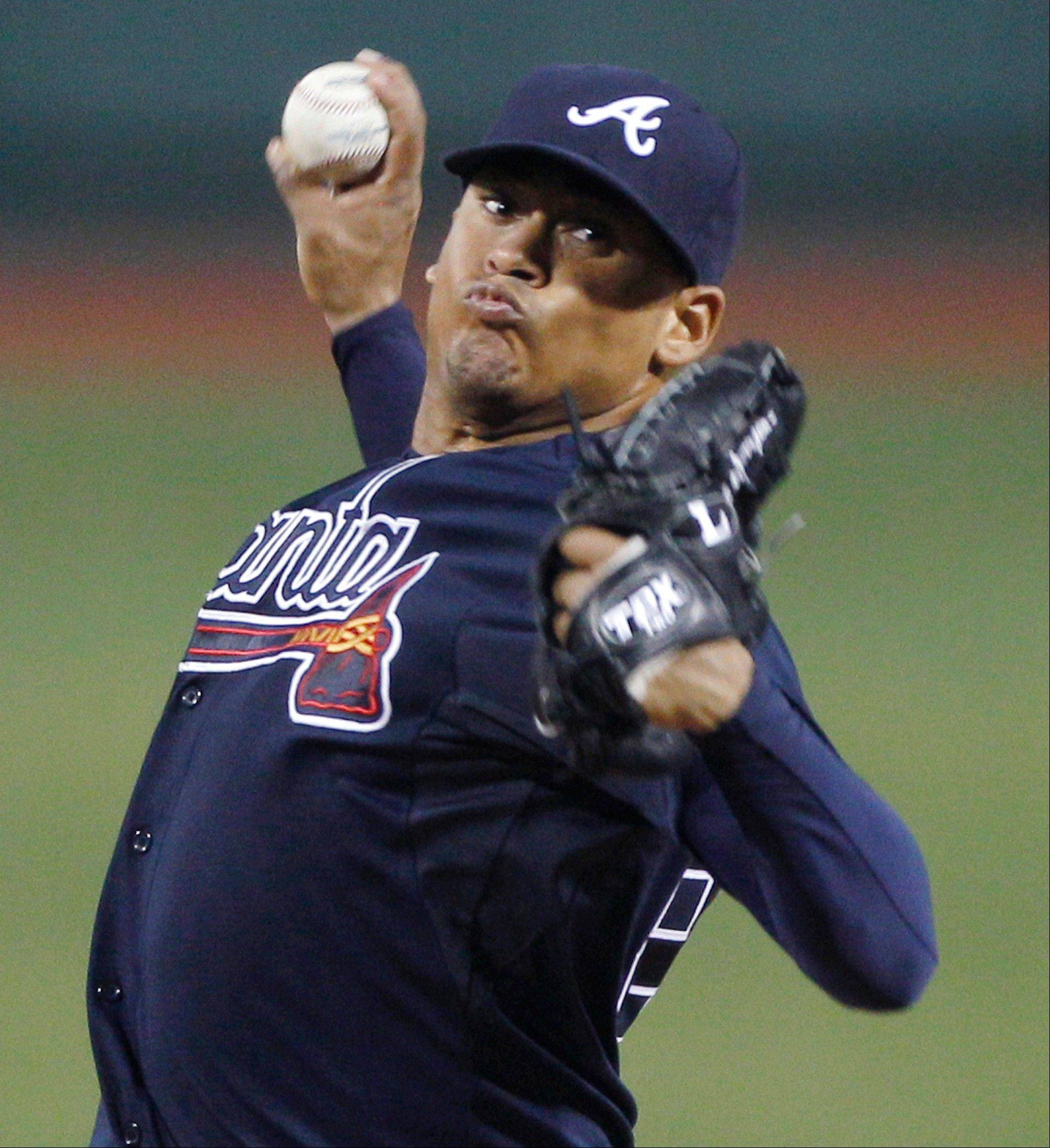Atlanta Braves starter Jair Jurrjens struck out four against the Red Sox Friday in Boston.